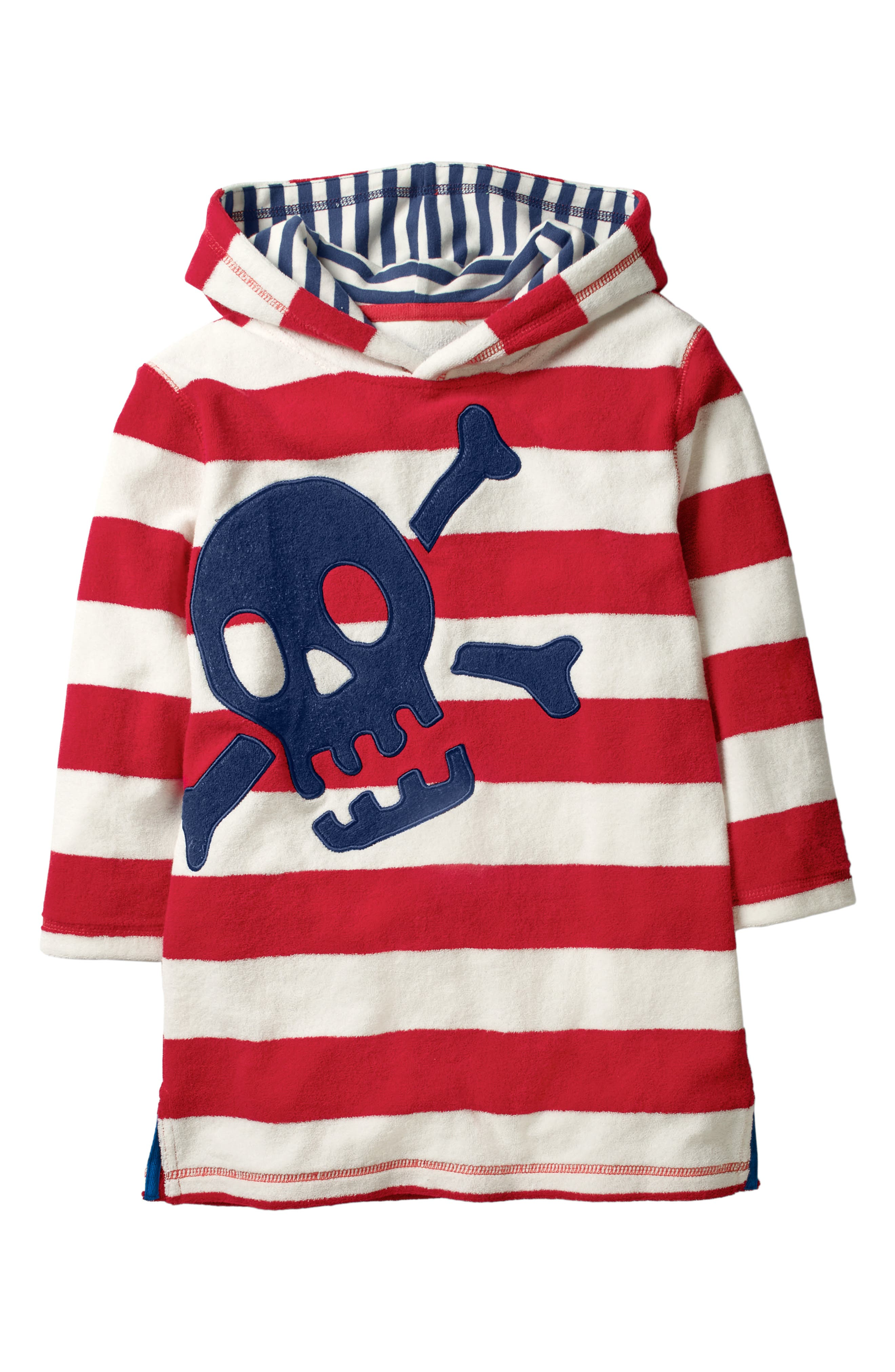 Skull & Stripes Hooded Cover-Up,                             Main thumbnail 1, color,                             614