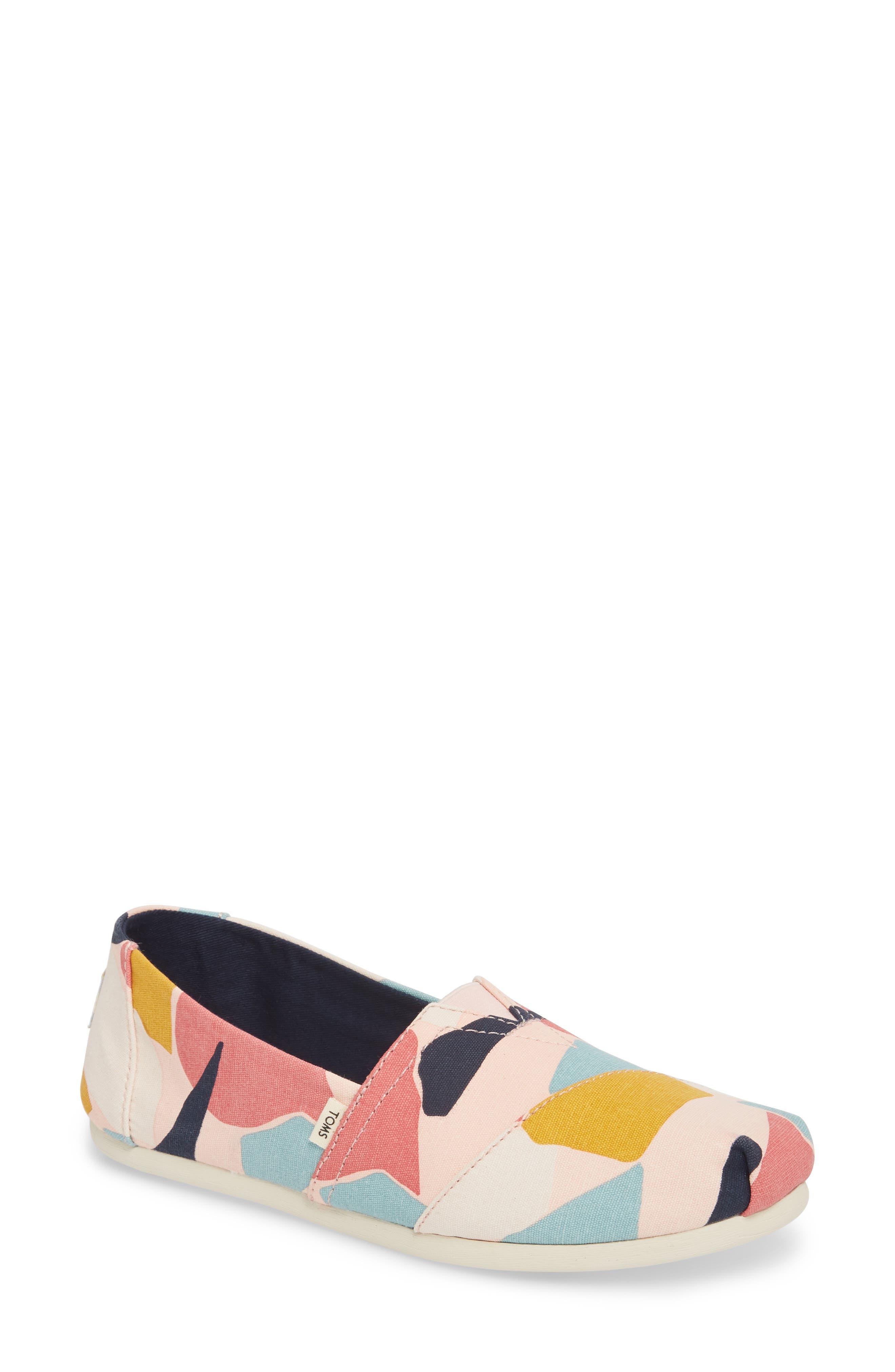 Alpargata Slip-On Sneaker,                             Main thumbnail 1, color,                             ROSE GLOW PRINT CANVAS