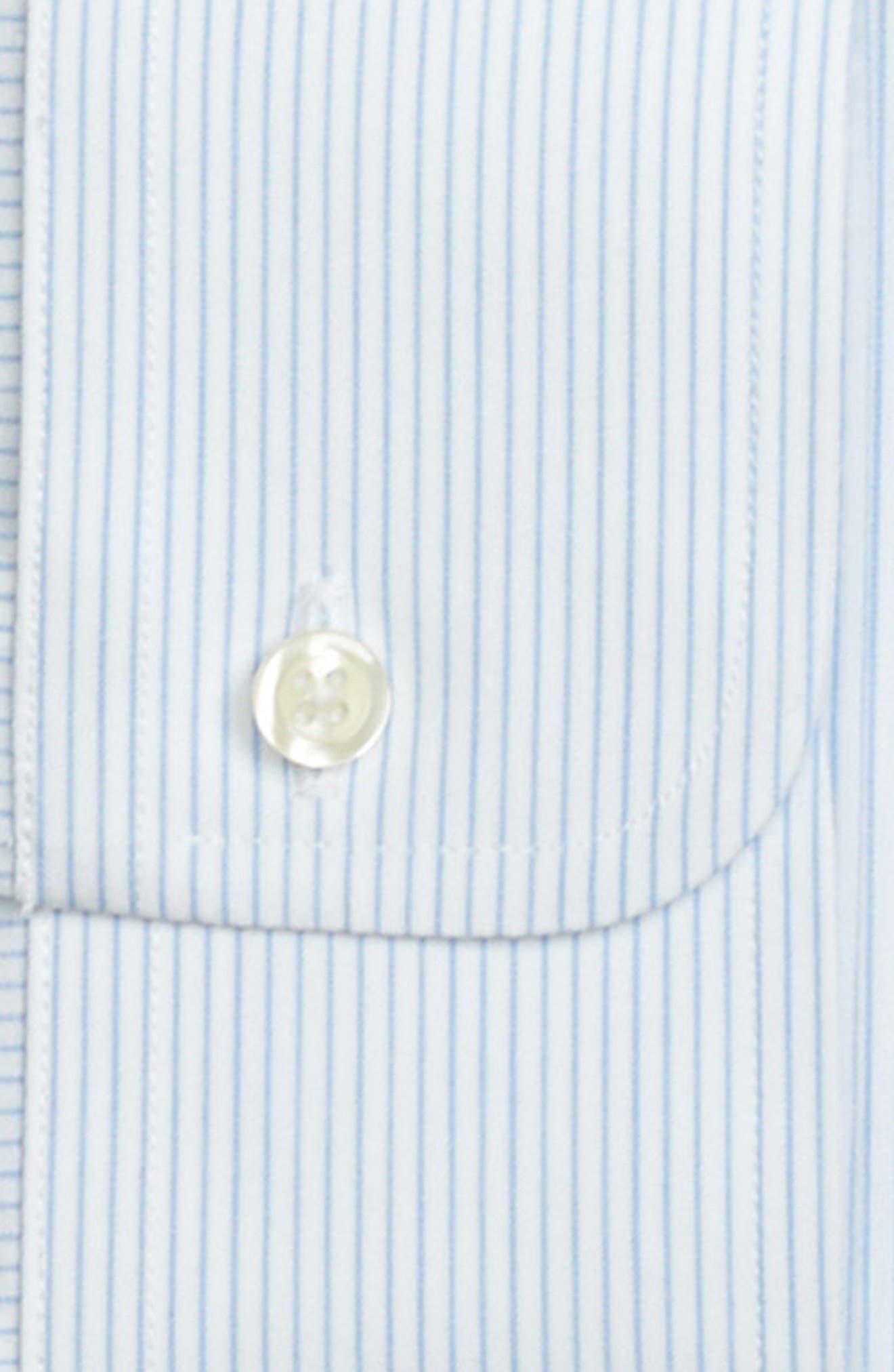 Trim Fit Stripe Dress Shirt,                             Alternate thumbnail 2, color,                             LIGHT/ PASTEL BLUE