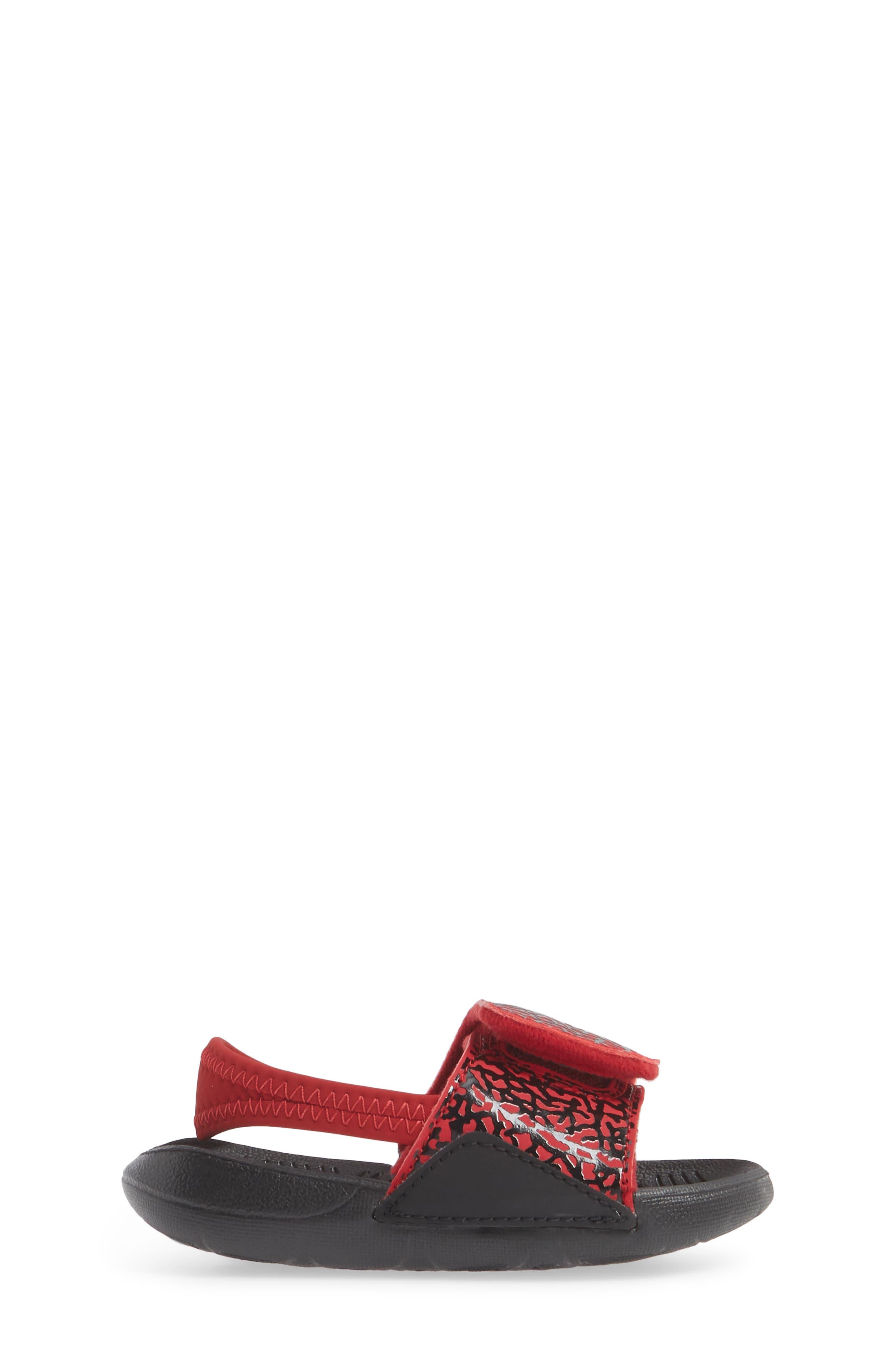 Hydro 7 V2 Sandal,                             Alternate thumbnail 3, color,                             GYM RED/ BLACK 2