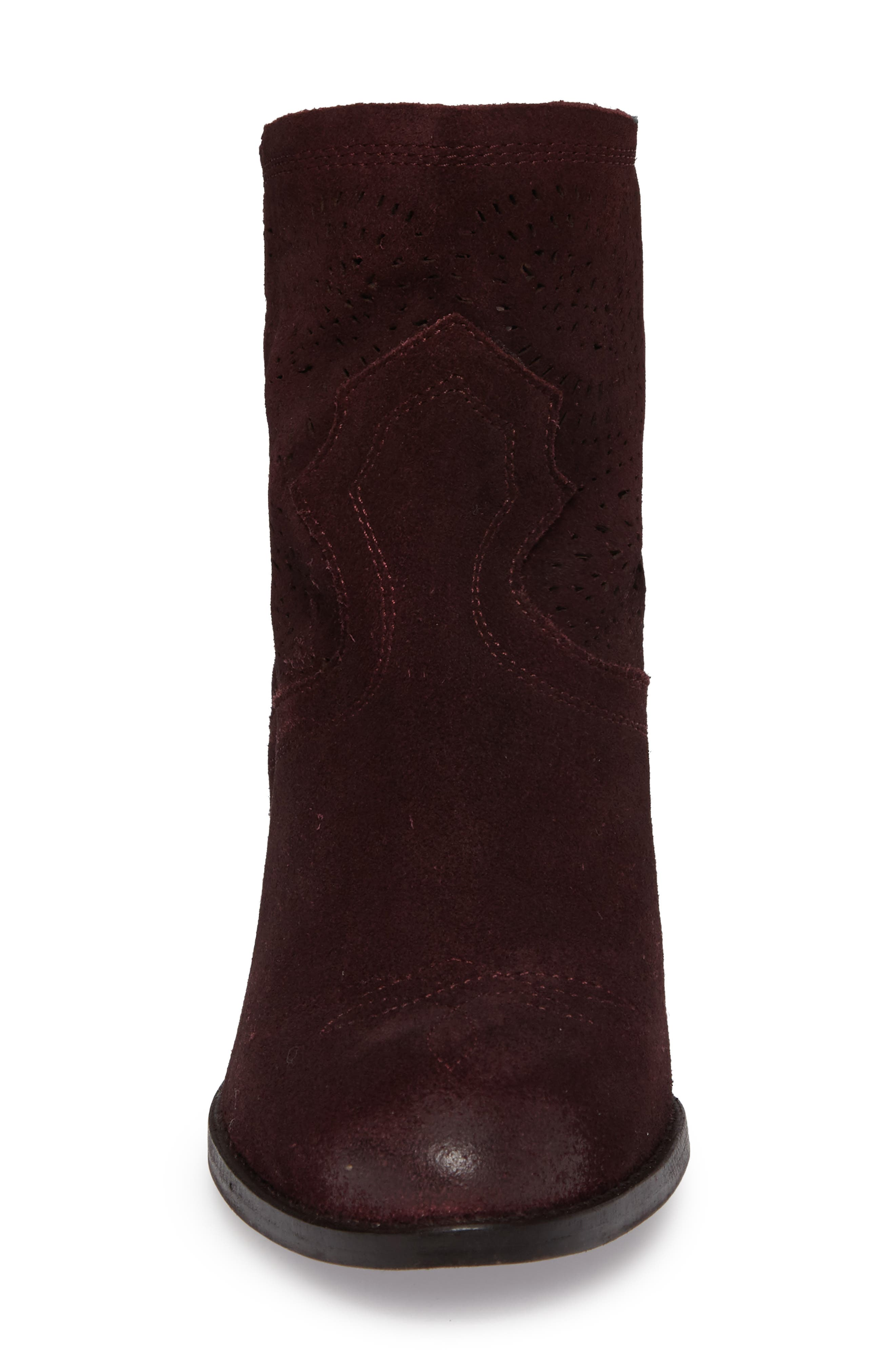 Zoey Perforated Bootie,                             Alternate thumbnail 16, color,