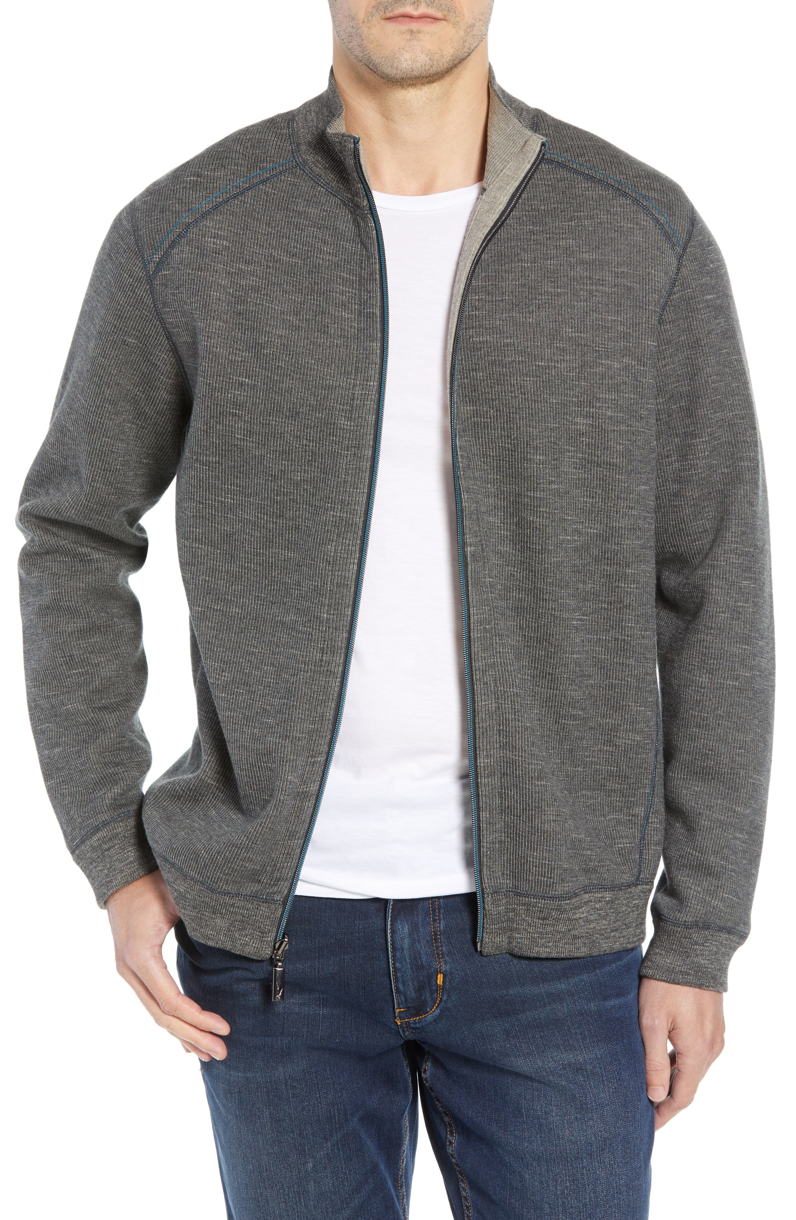 Flipsider Reversible Jacket,                             Main thumbnail 1, color,                             ONYX HEATHER