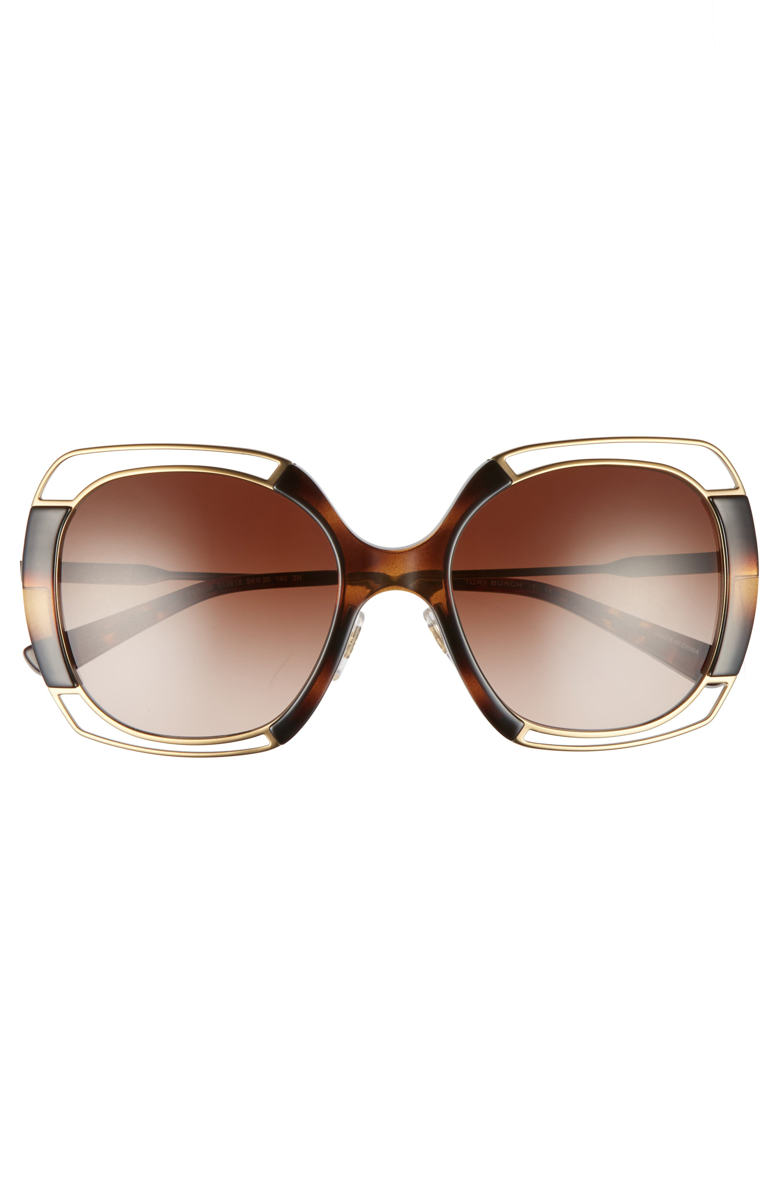 54mm Square Gradient Sunglasses,                             Alternate thumbnail 8, color,