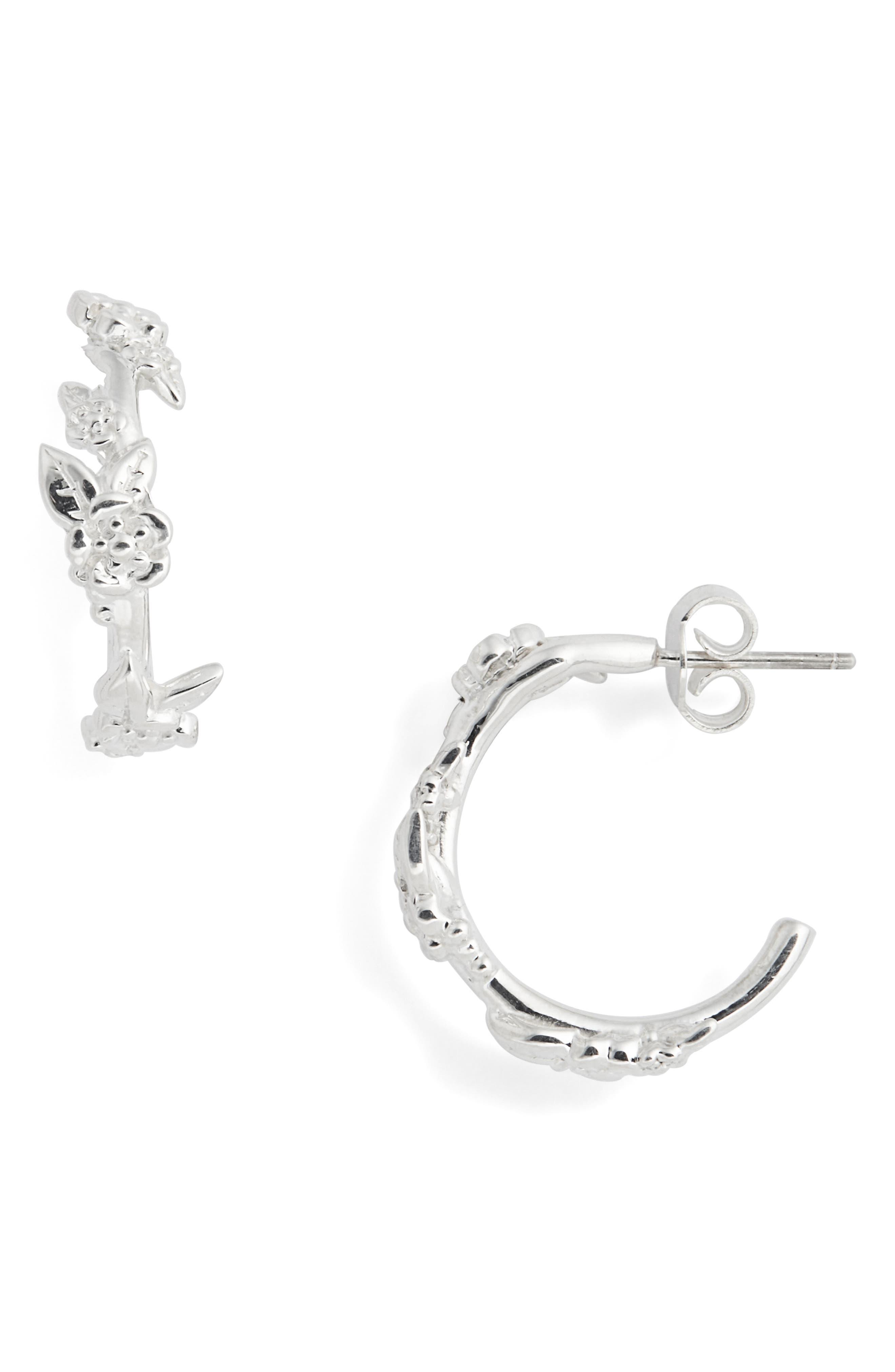 Small Alba Hoop Earrings,                             Main thumbnail 1, color,                             STERLING SILVER