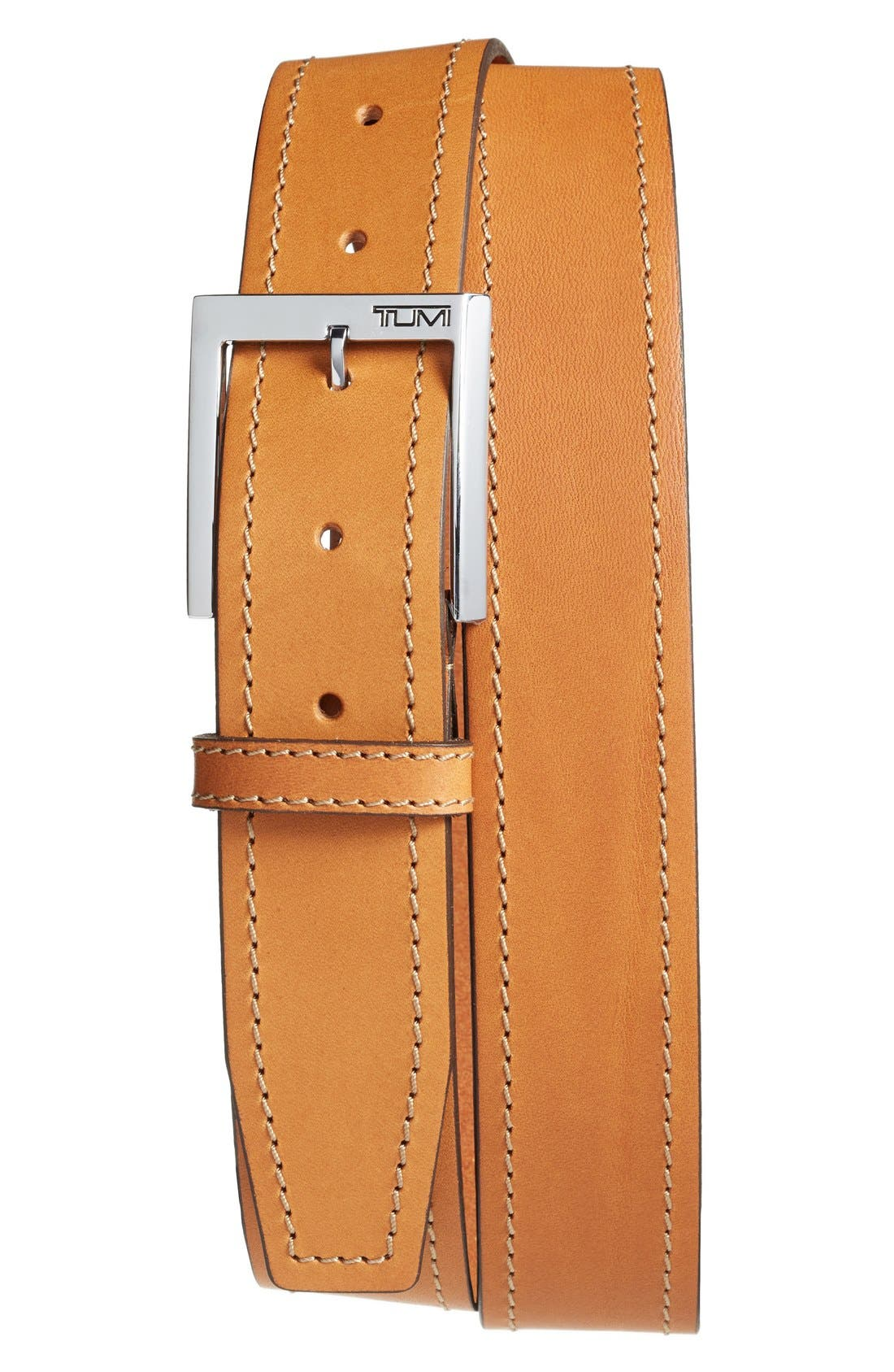 Leather Belt,                             Main thumbnail 1, color,                             250