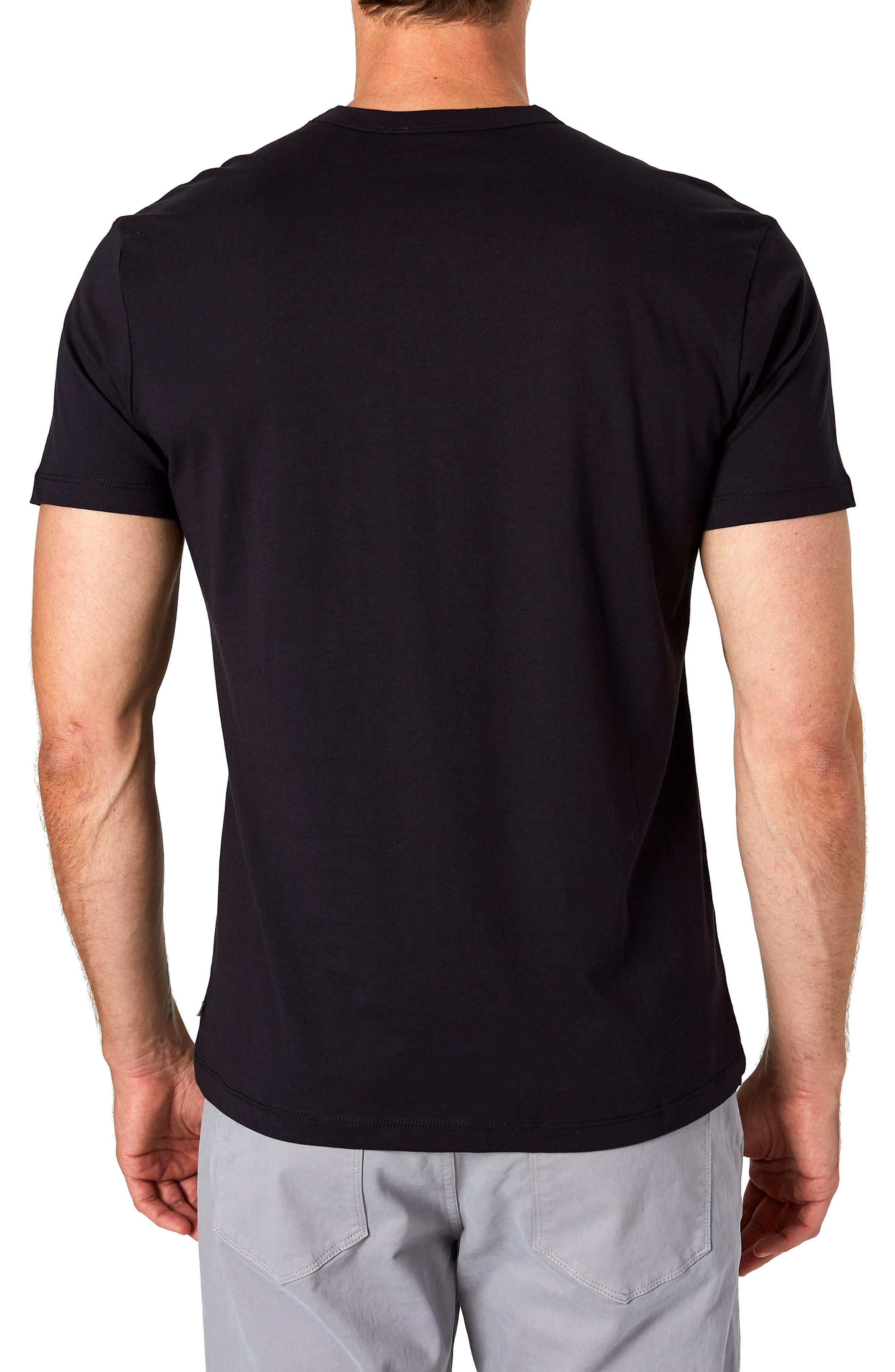 Iqonicq Crewneck T-Shirt,                             Alternate thumbnail 2, color,                             BLACK