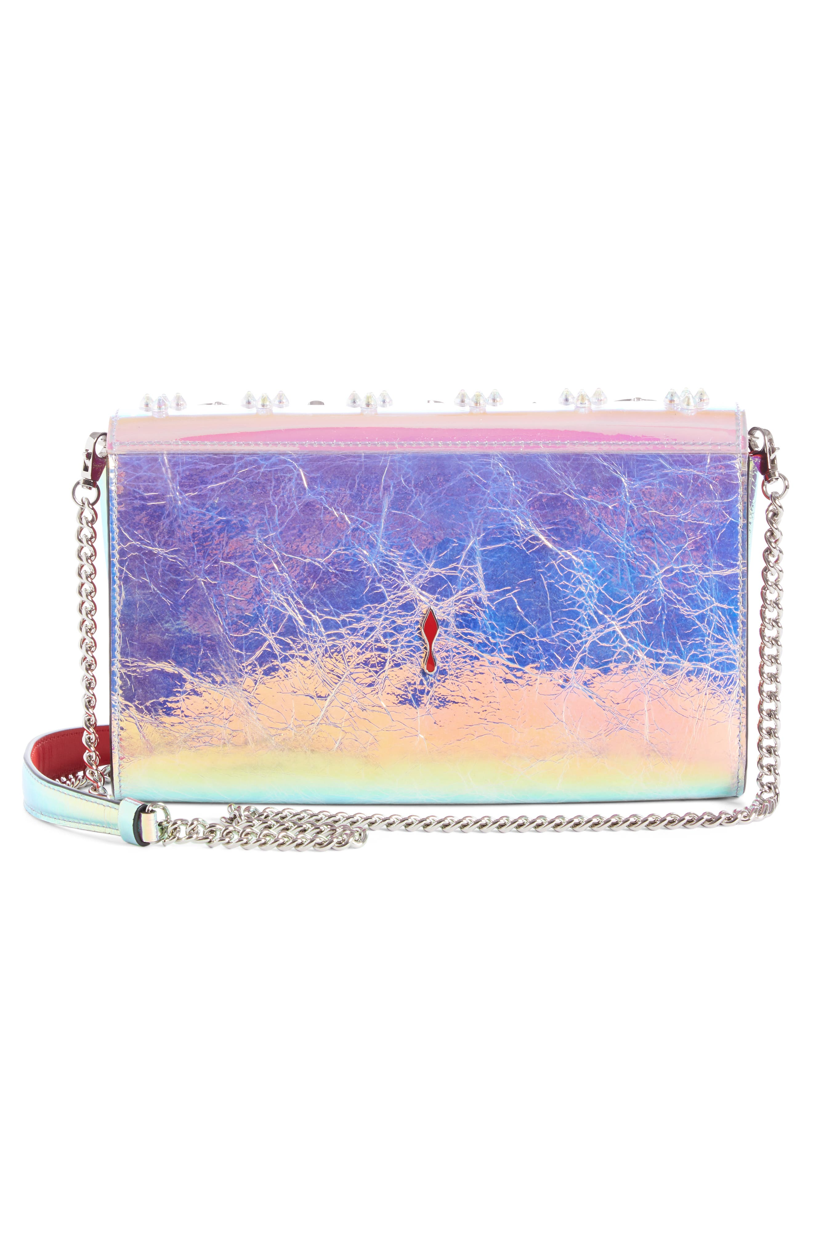 Paloma Loubisky Studded Leather Clutch,                             Alternate thumbnail 2, color,                             MULTI AB
