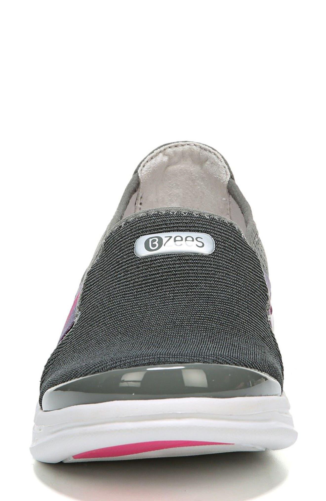 Cruise Slip-On Sneaker,                             Alternate thumbnail 4, color,                             DARK GREY FABRIC
