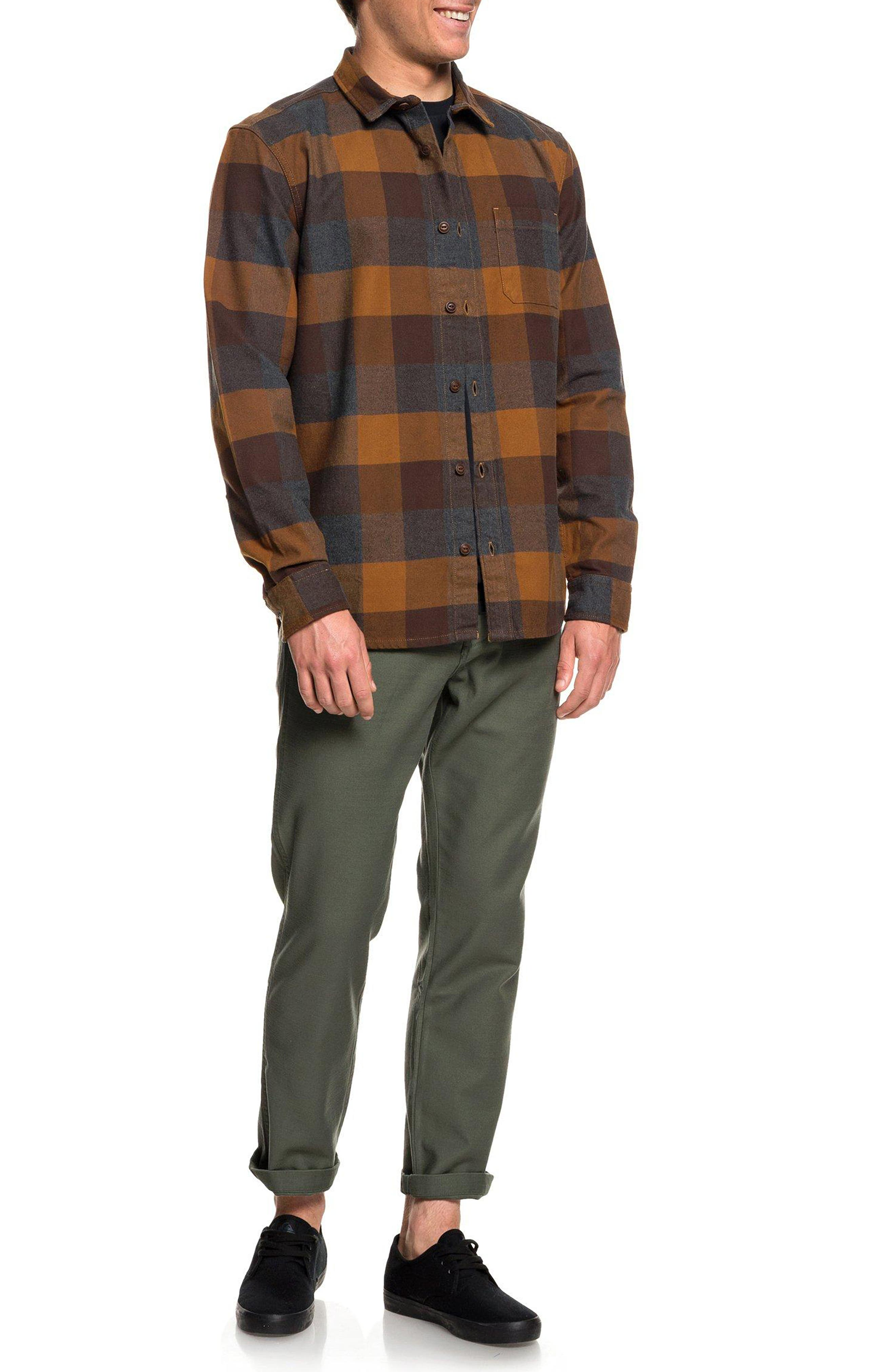 Stretch Flannel Shirt,                             Alternate thumbnail 3, color,                             208