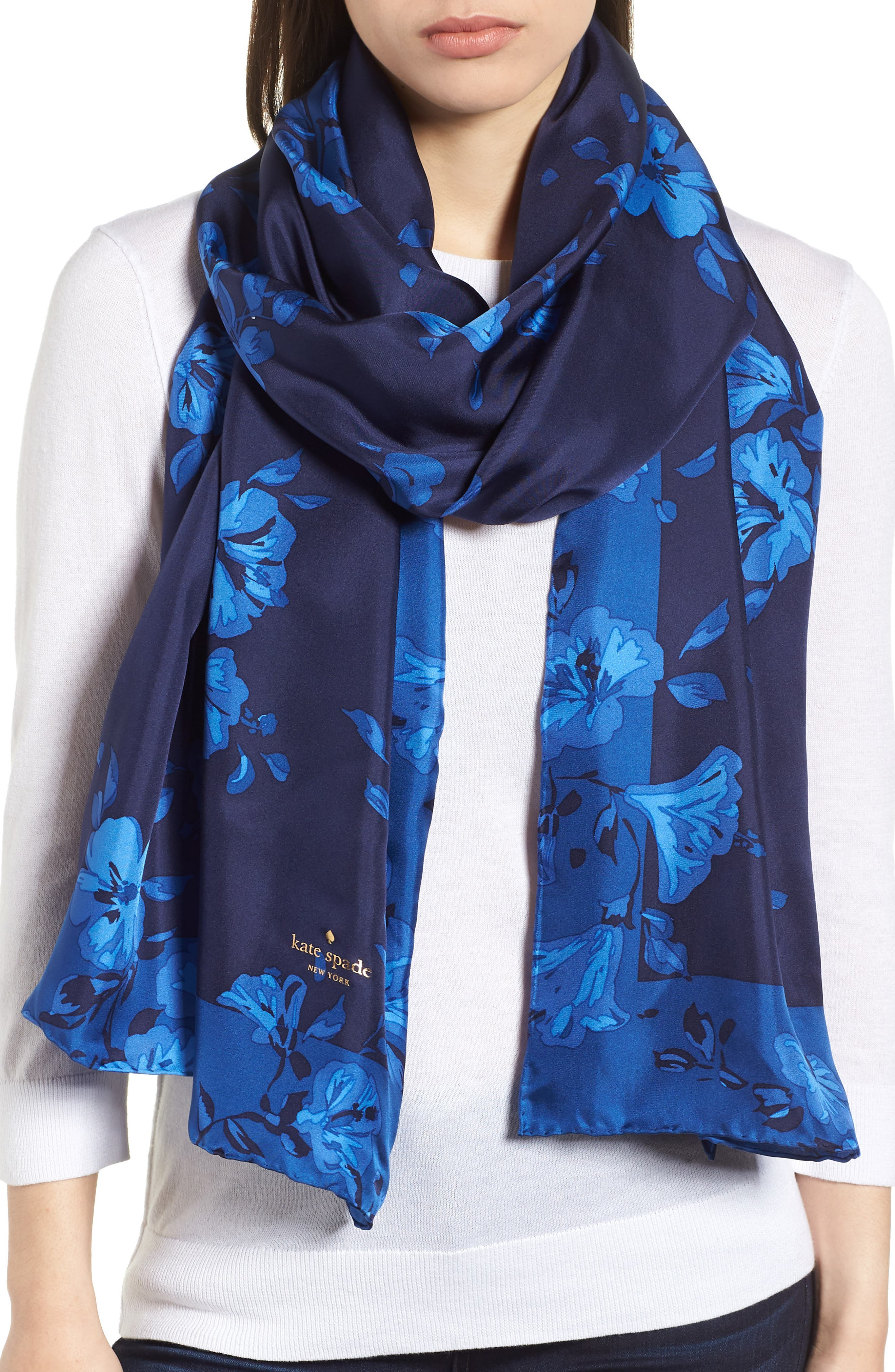 hibiscus silk scarf,                         Main,                         color,