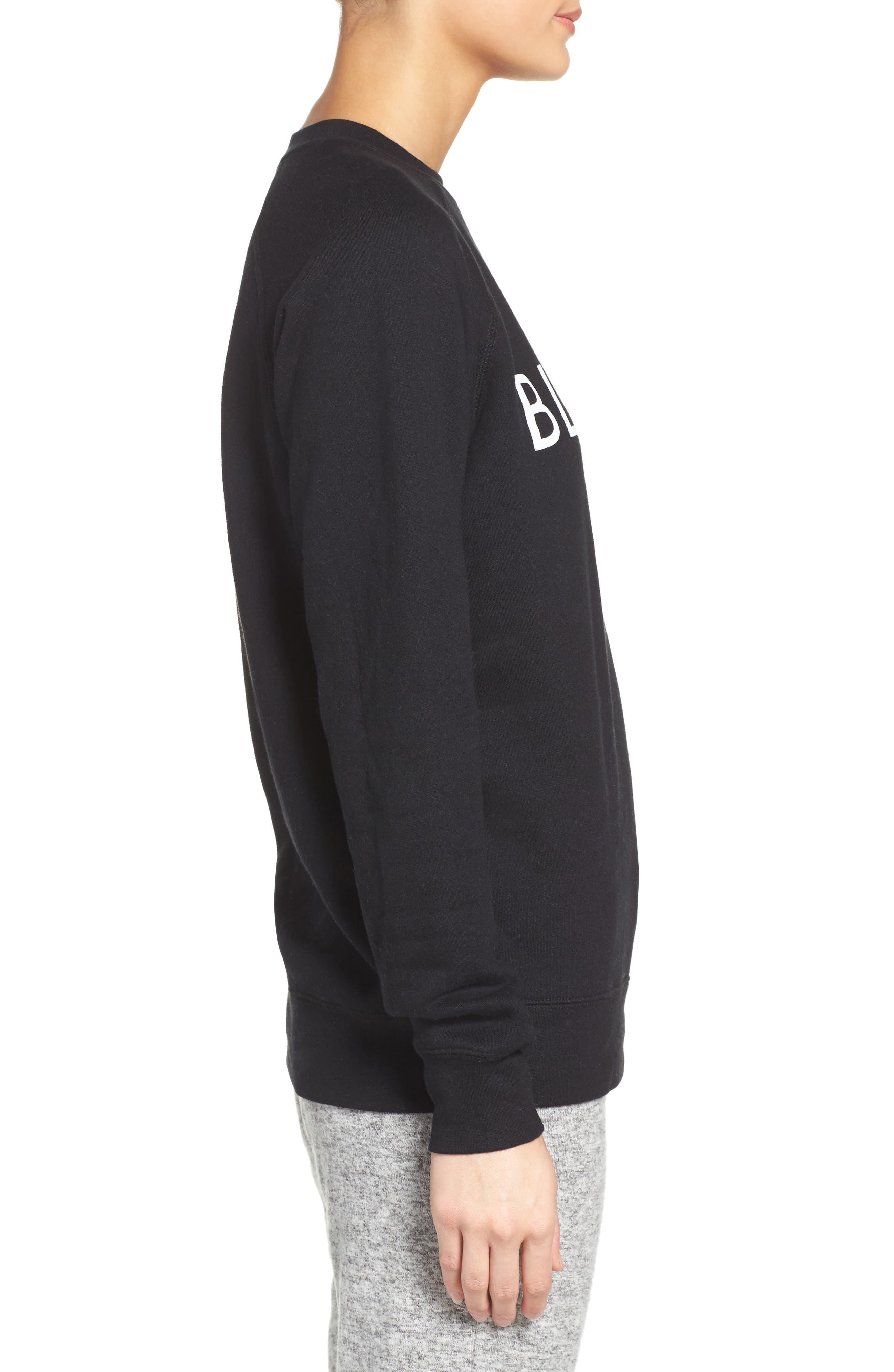 Blonde Crewneck Sweatshirt,                             Alternate thumbnail 3, color,                             001