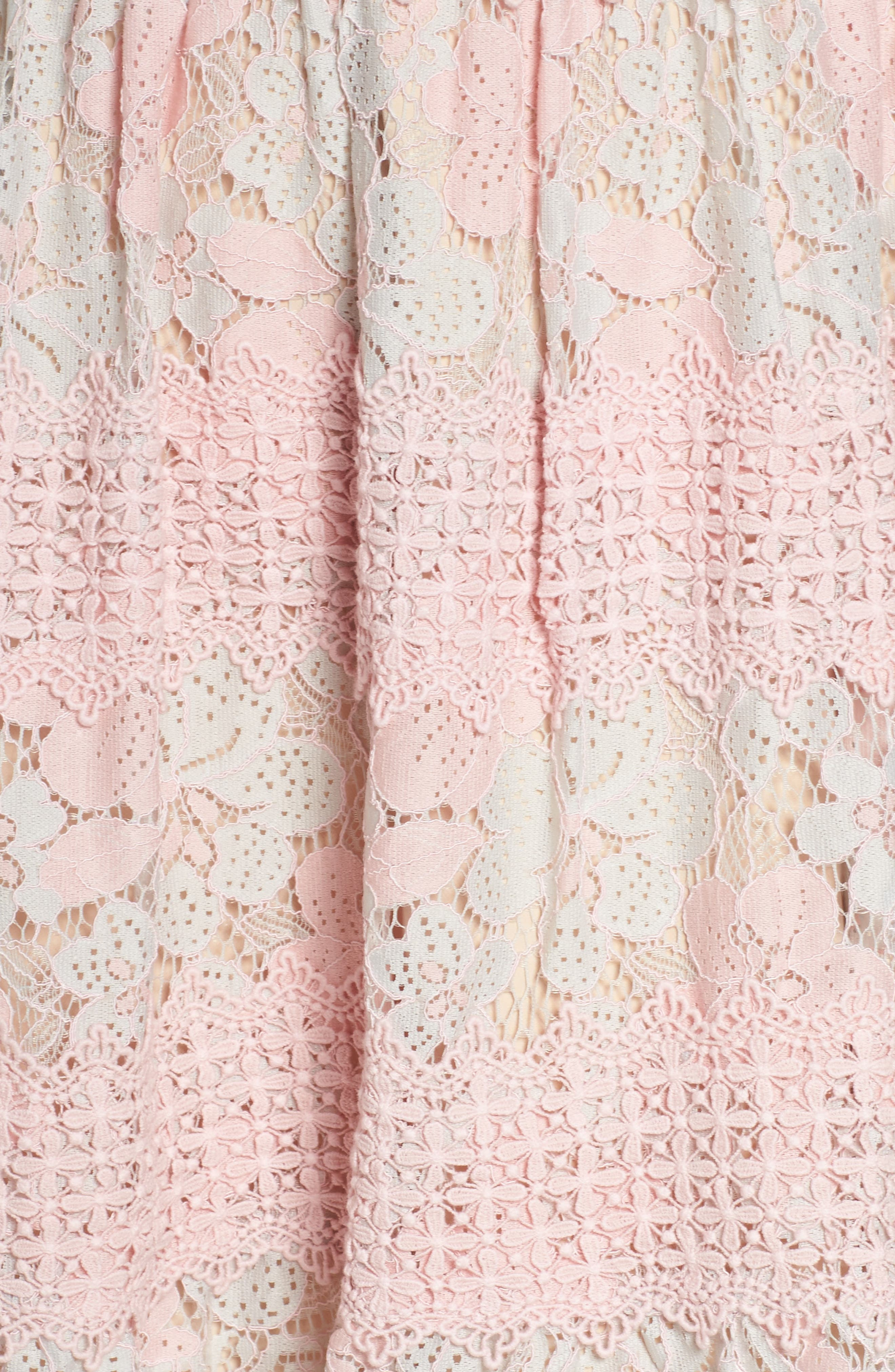 Tabitha Lace Minidress,                             Alternate thumbnail 5, color,