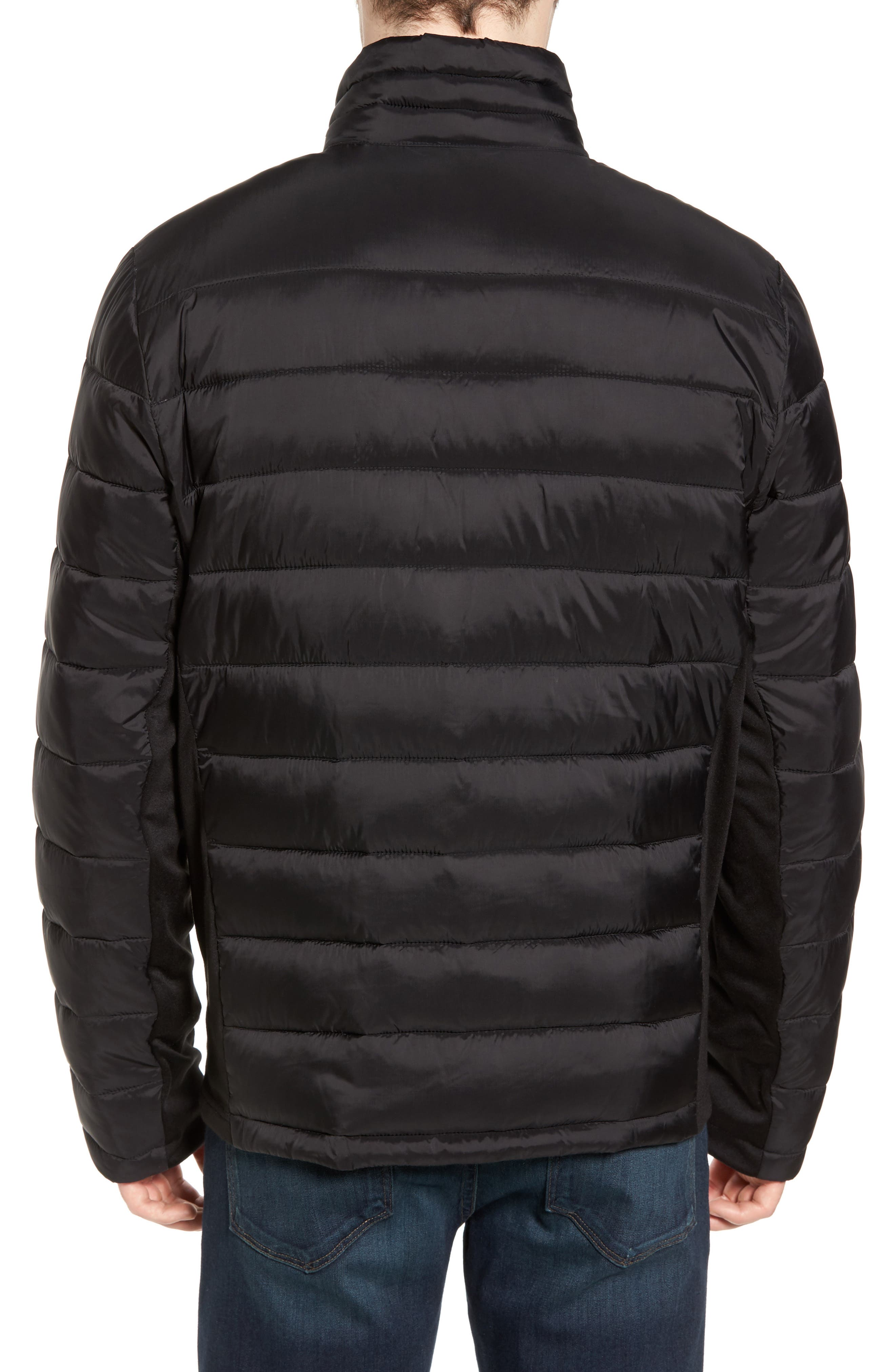 Water Resistant Packable Puffer Jacket,                             Alternate thumbnail 2, color,                             001