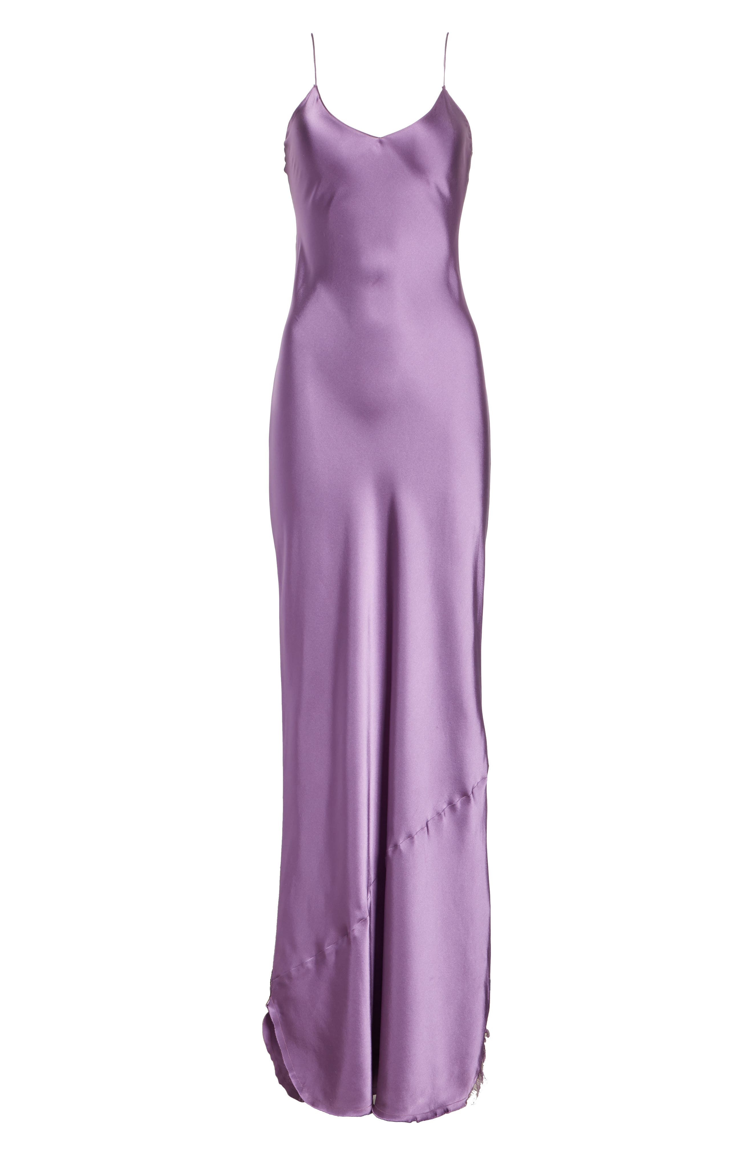 Silk Camisole Gown,                             Alternate thumbnail 7, color,                             LILAC