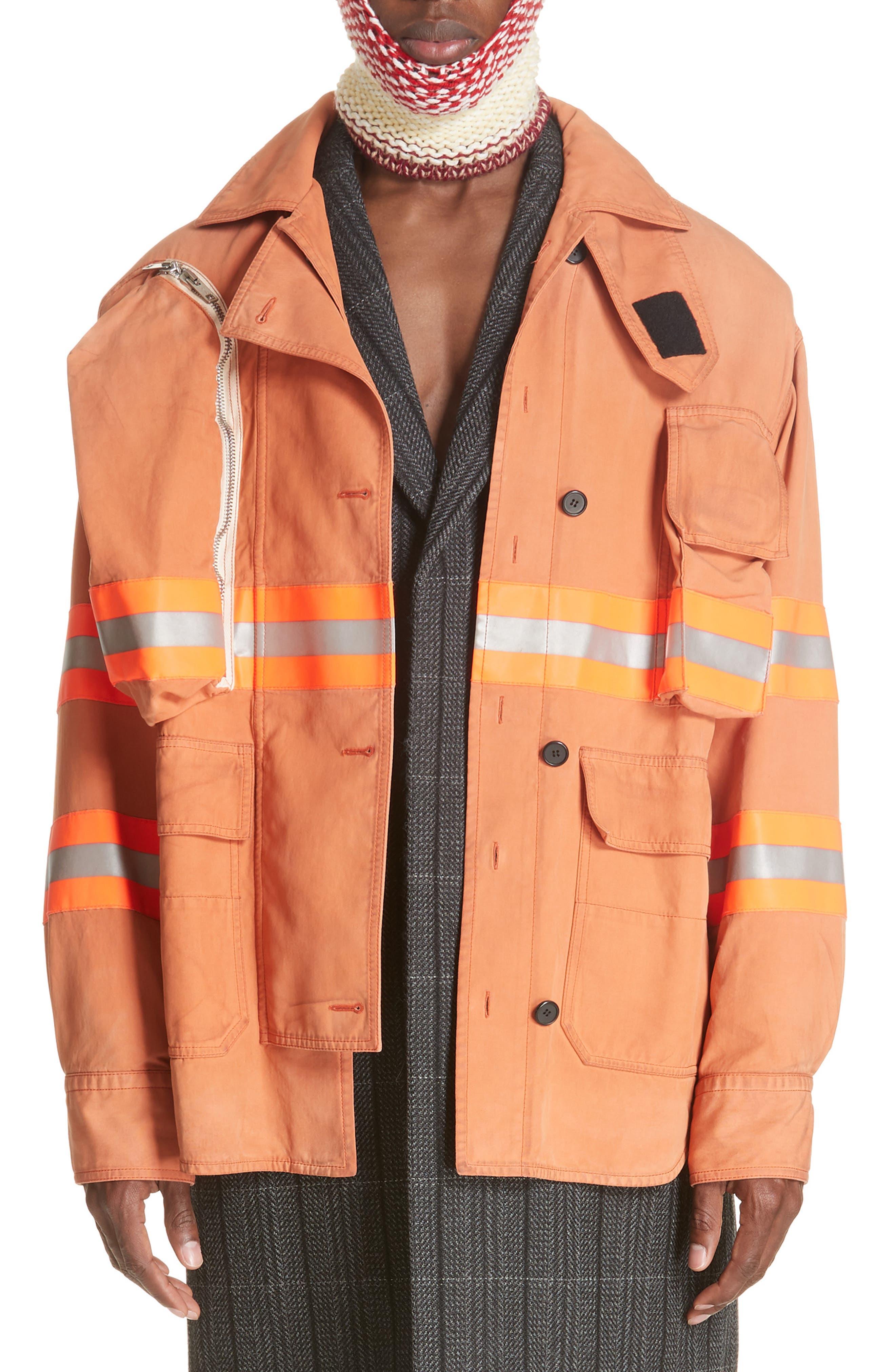 Fireman Jacket,                             Main thumbnail 1, color,                             BRIGHT RUST