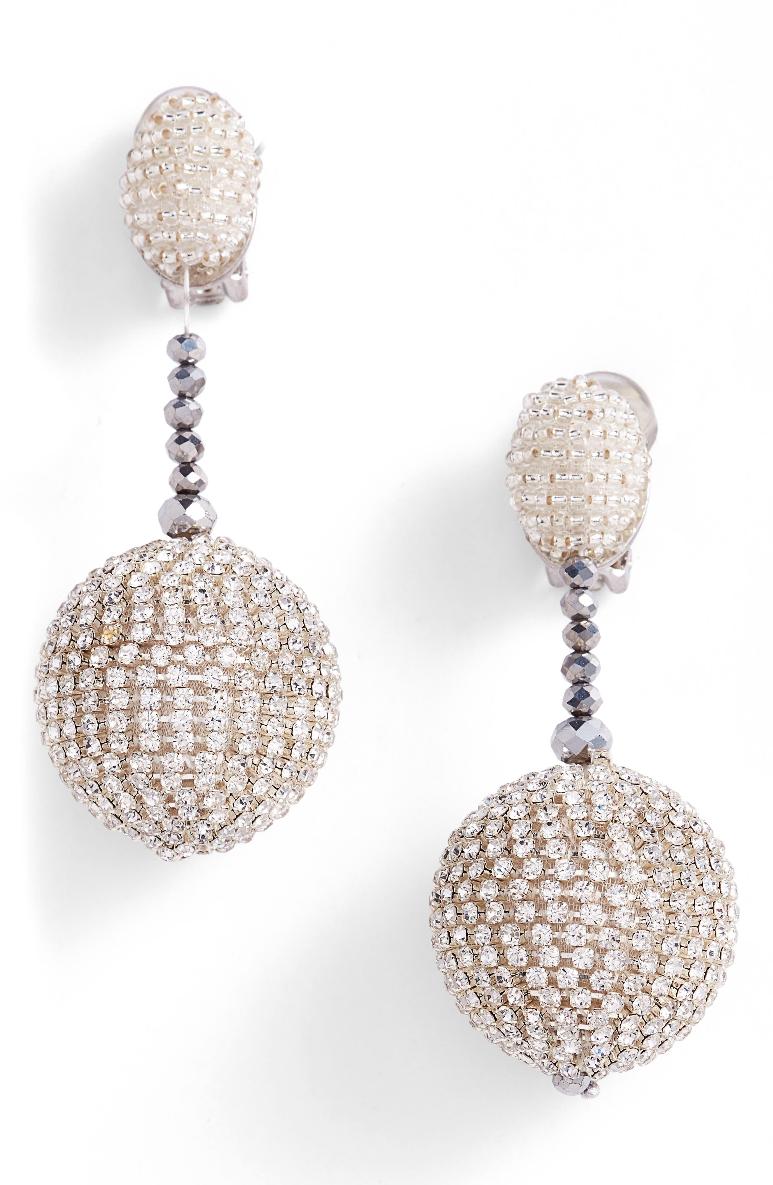 Beaded Drop Earrings,                         Main,                         color, 040