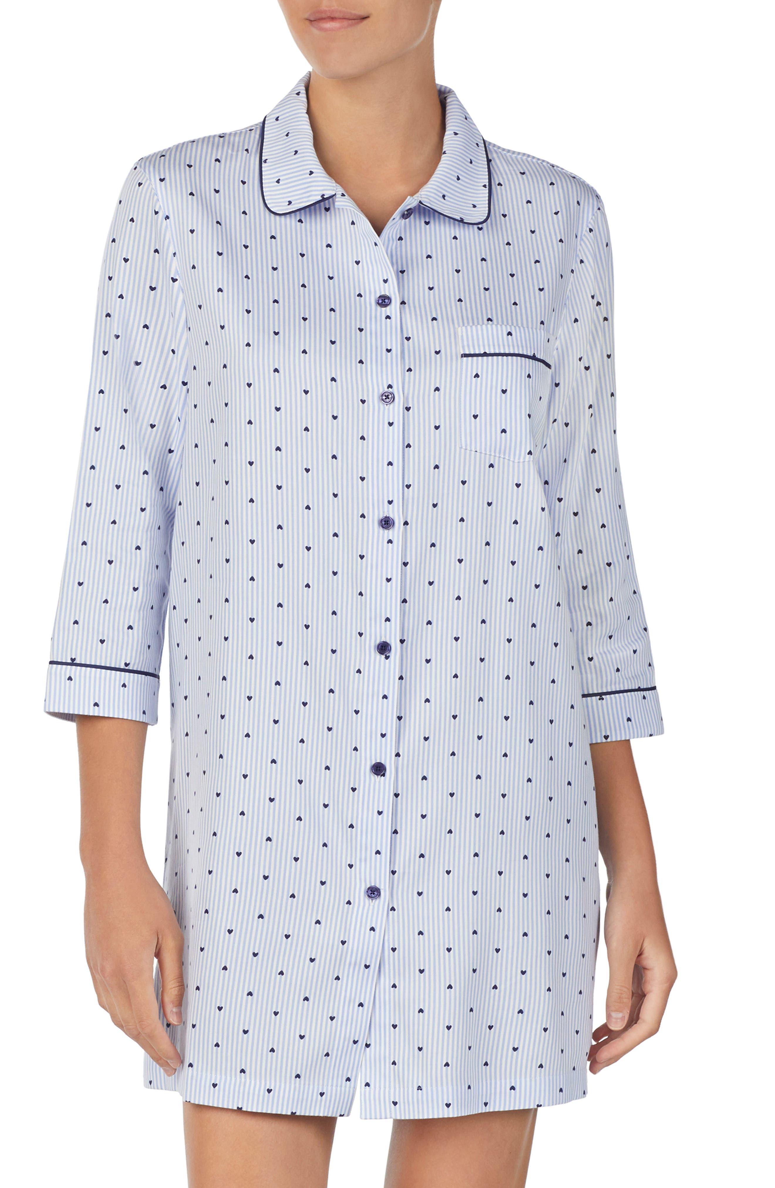 KATE SPADE NEW YORK print nightshirt, Main, color, MINI HEART