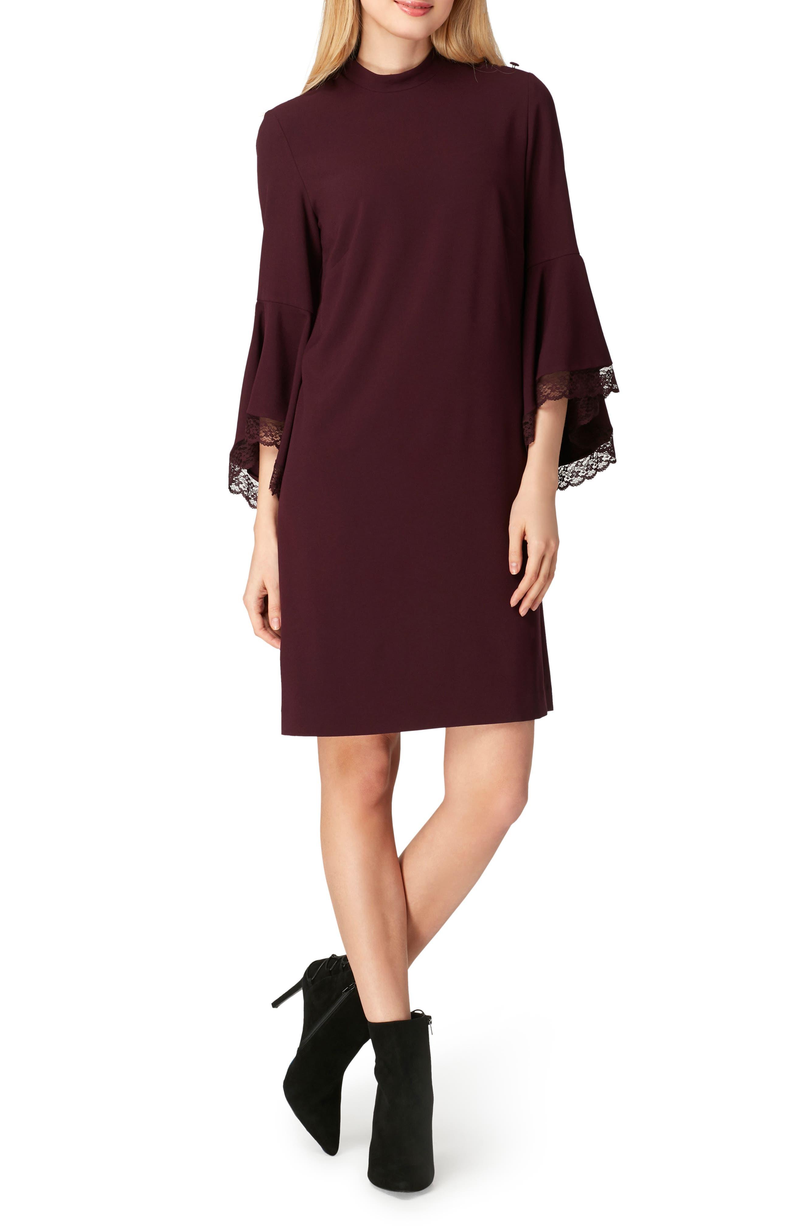 Bell Sleeve Shift Dress,                             Main thumbnail 1, color,                             930
