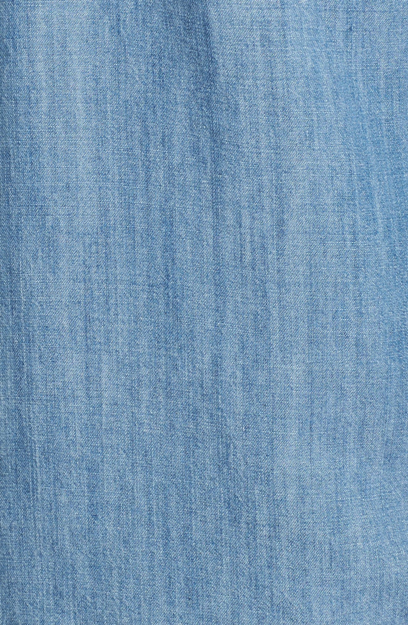 Colton Denim Shirt,                             Alternate thumbnail 5, color,                             MEDIUM VINTAGE WASH