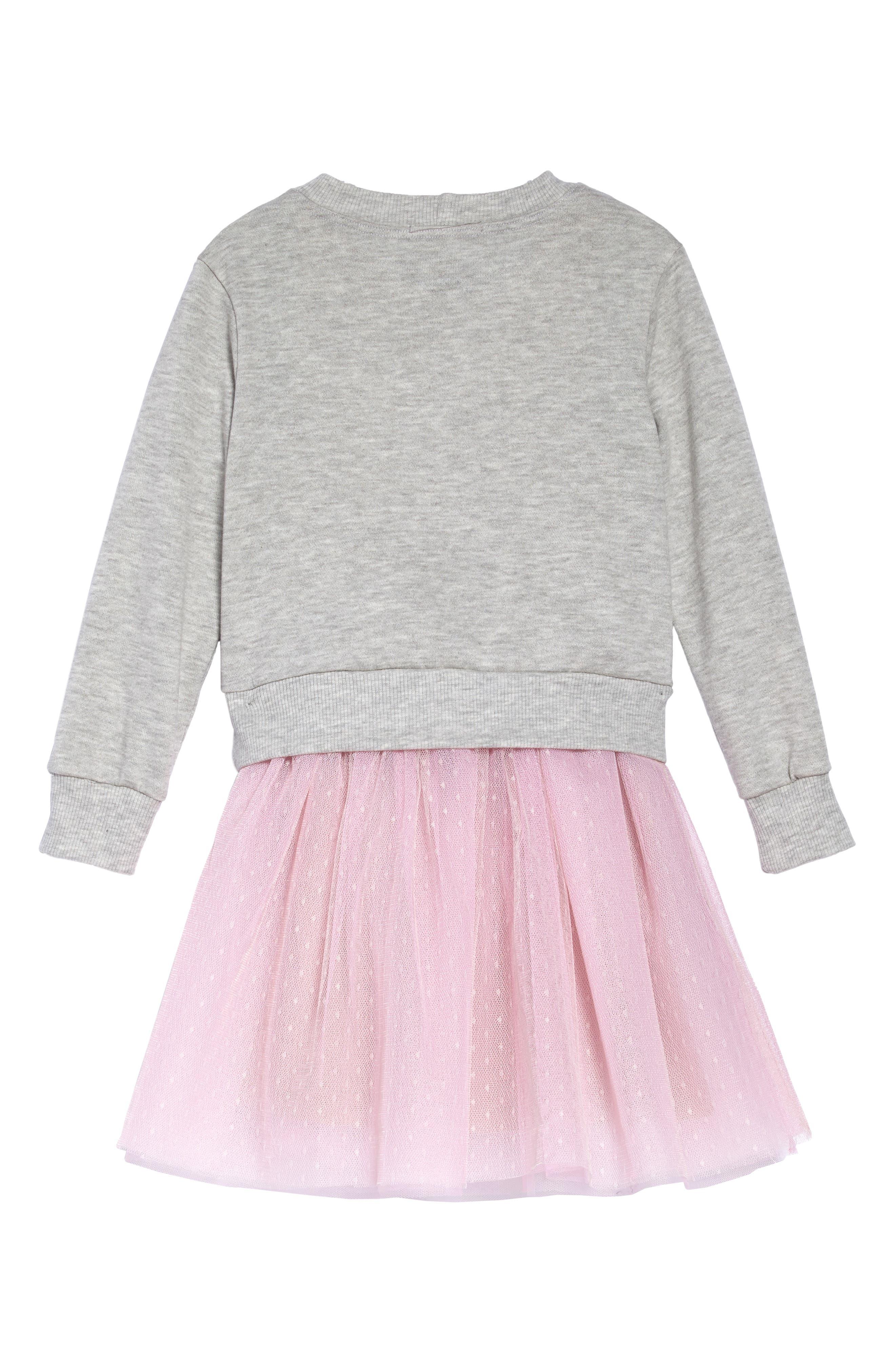 Unicorn Sweatshirt & Tutu Dress Set,                             Alternate thumbnail 4, color,                             069