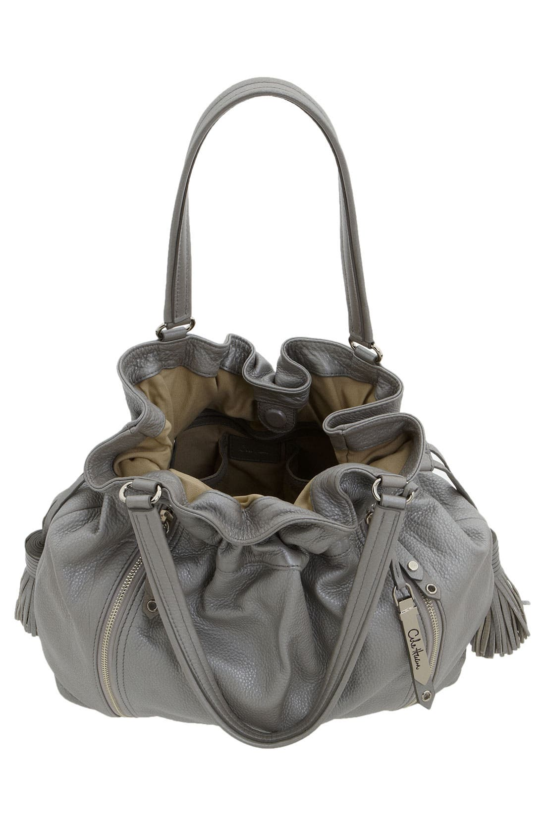 'Bailey' Pebbled Leather Drawstring Tote,                             Alternate thumbnail 16, color,