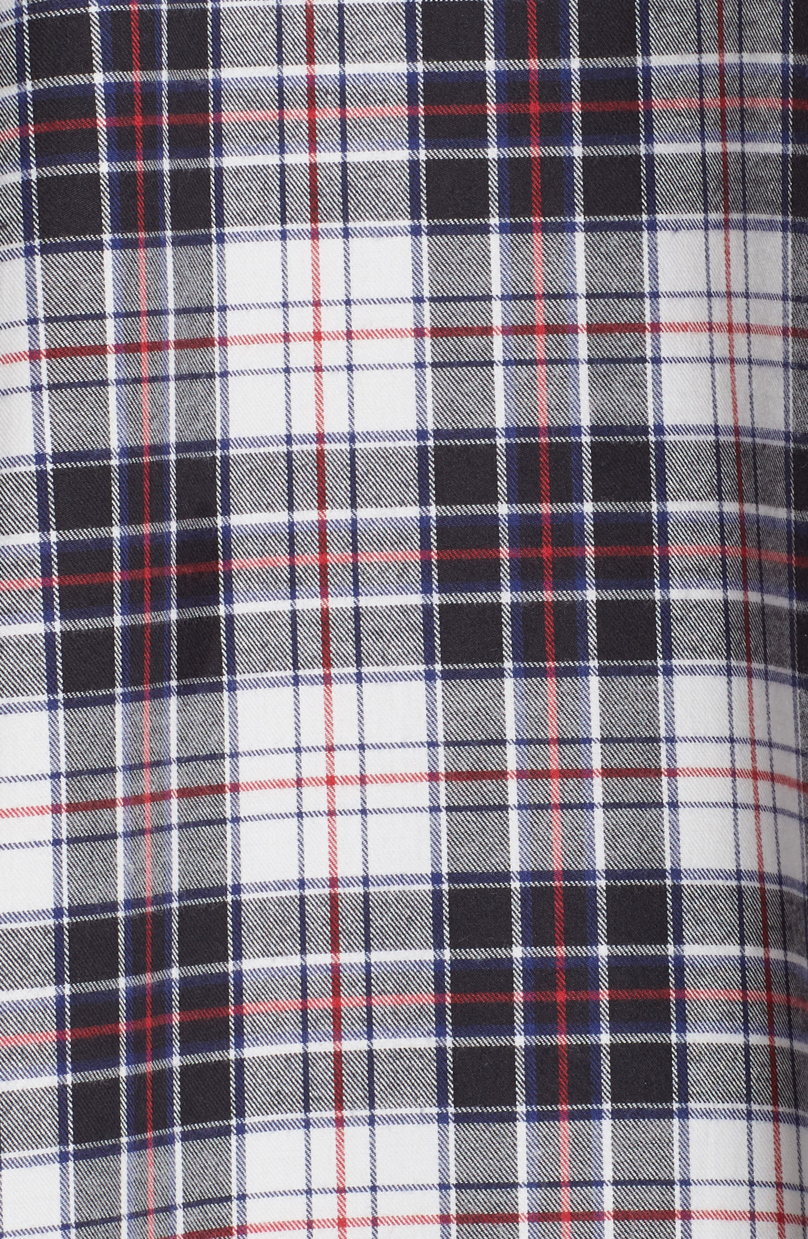 Swing Plaid Flannel Shirt,                             Alternate thumbnail 5, color,                             120