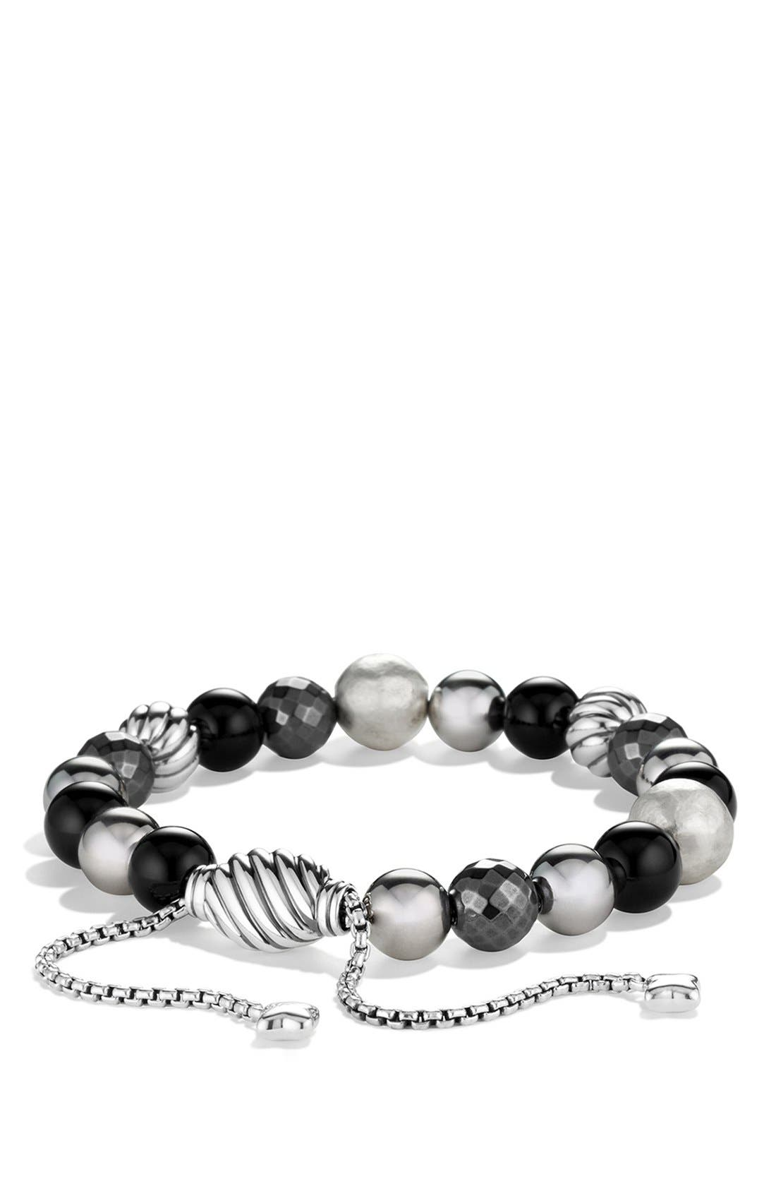 'DY Elements' Bead Bracelet,                             Main thumbnail 1, color,                             BLACK ONYX