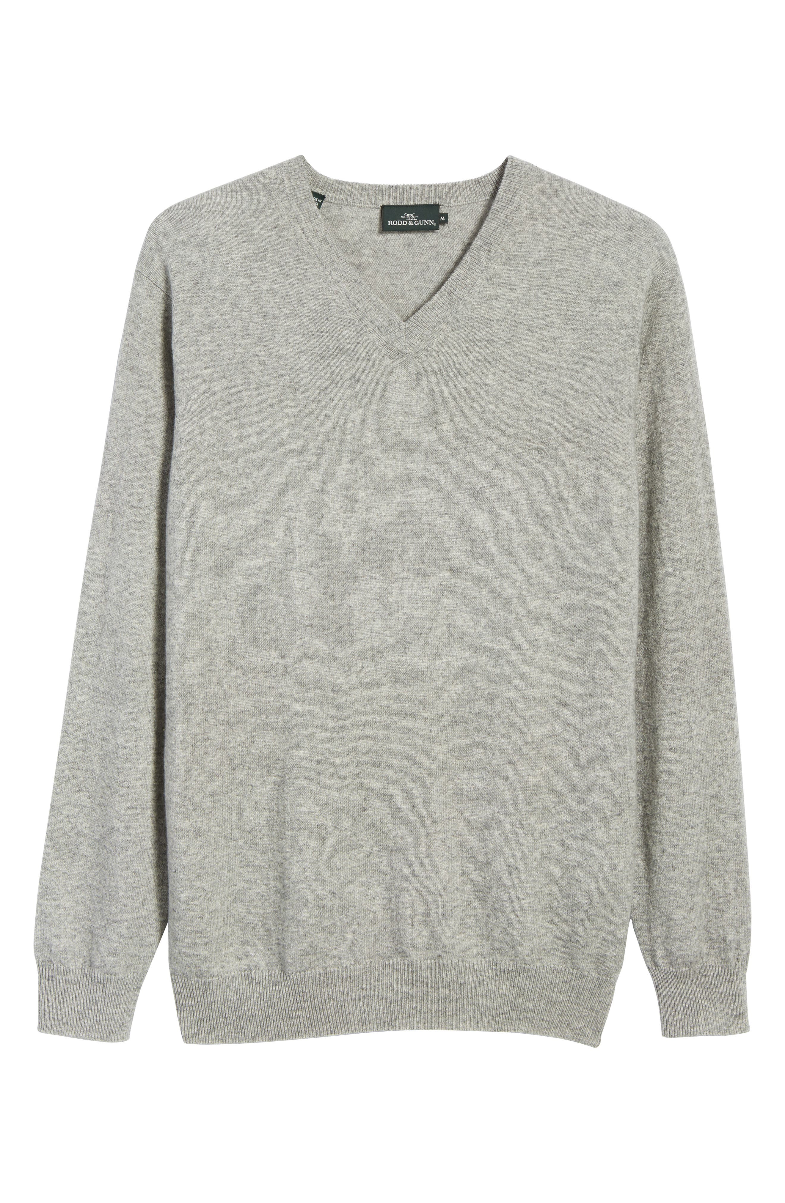 'Inchbonnie' Wool & Cashmere V-Neck Sweater,                             Alternate thumbnail 6, color,                             020