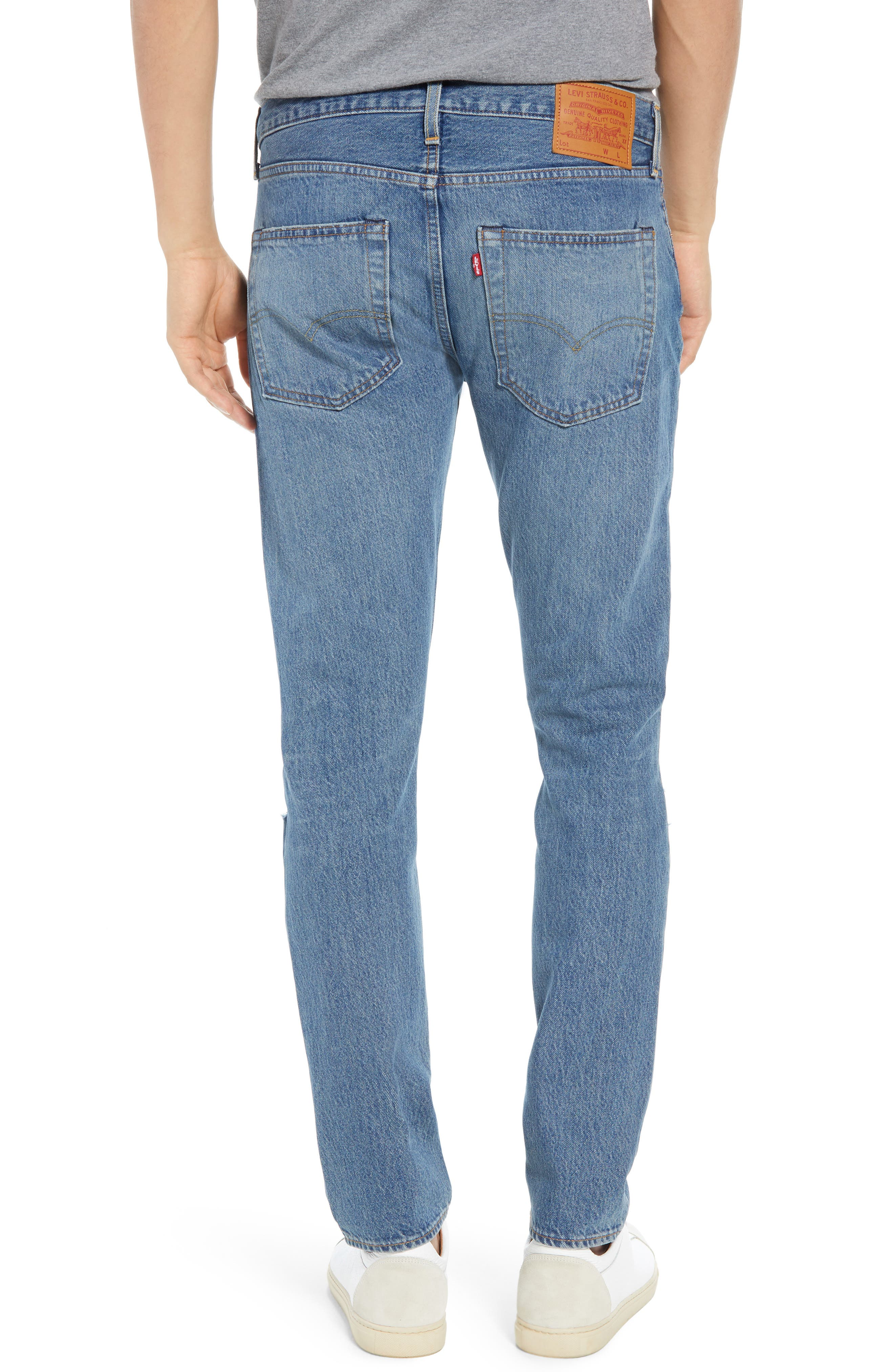 501<sup>™</sup> Slim Fit Jeans,                             Alternate thumbnail 2, color,                             SINGLE PAYER WARP