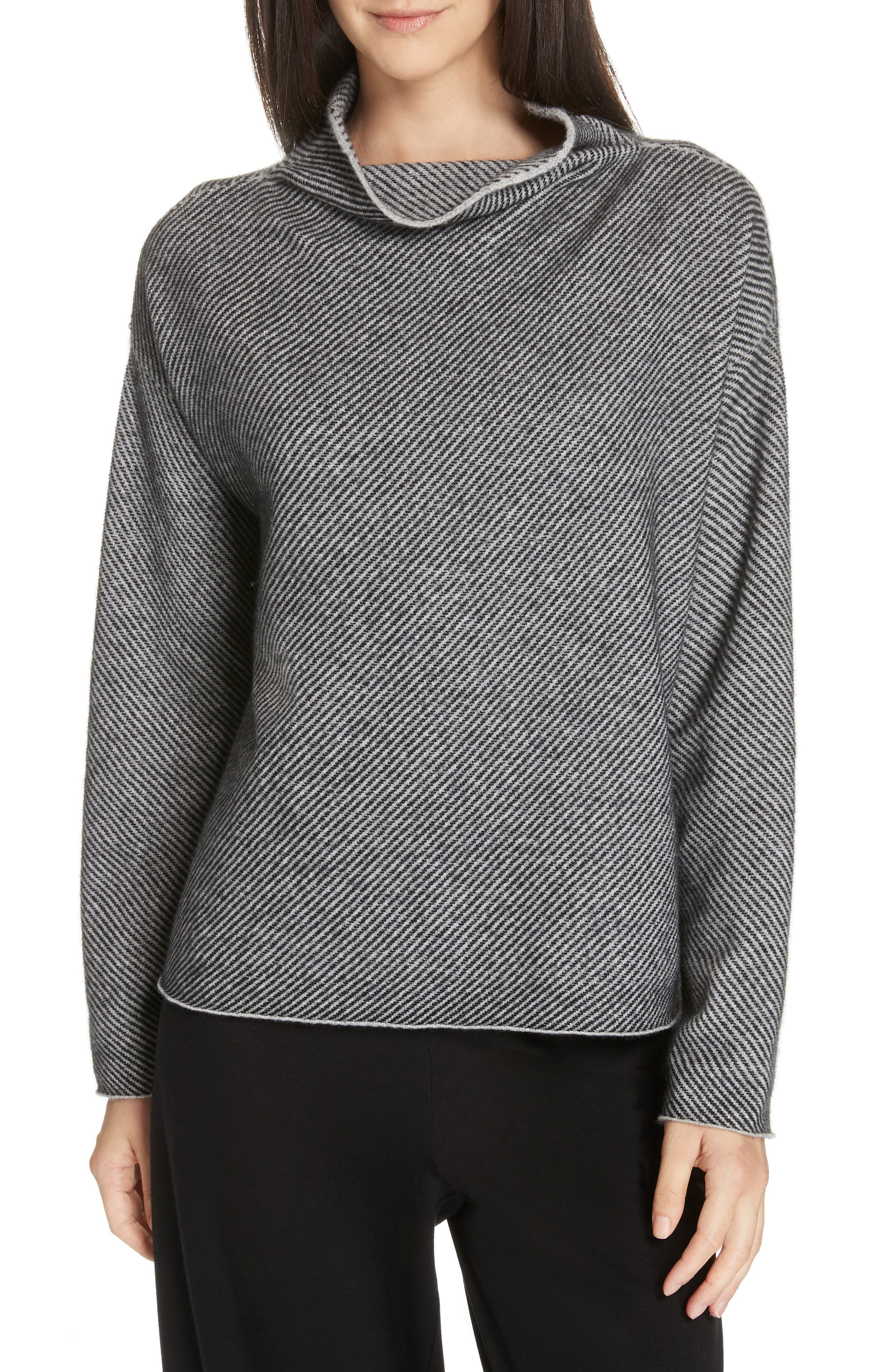 Eileen Fisher Cashmere & Wool Sweater, Grey