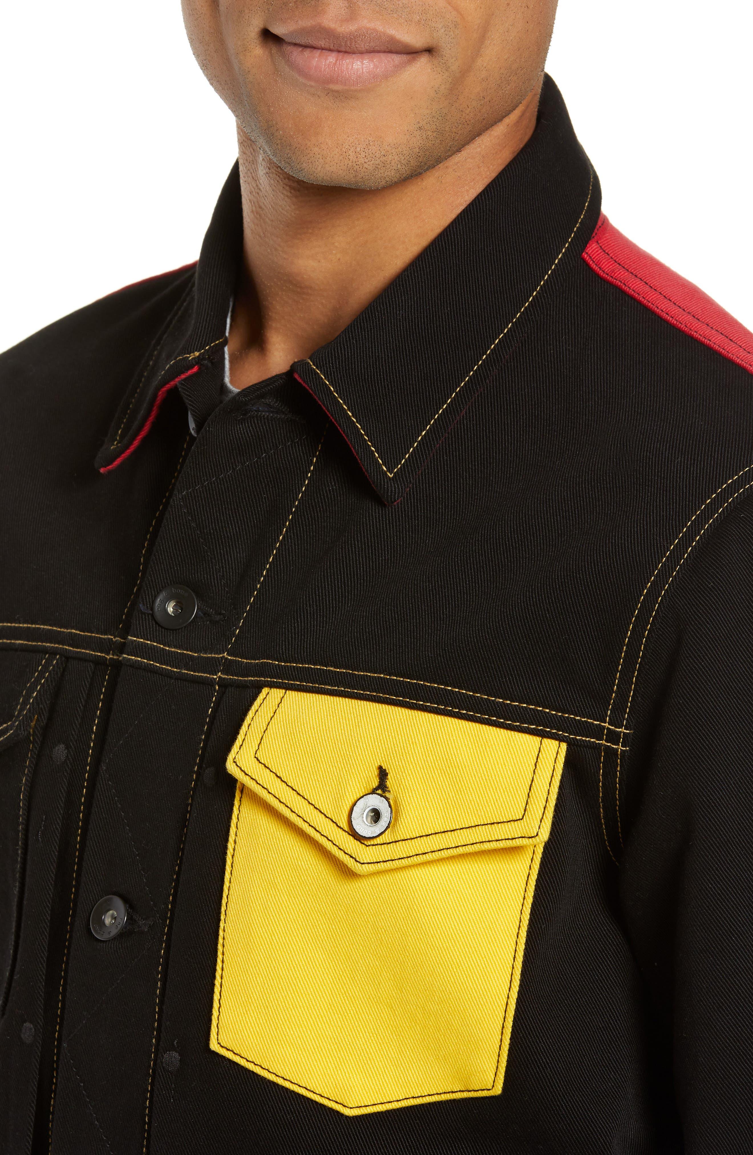 Mickey Mouse Unisex Denim Jacket,                             Alternate thumbnail 4, color,                             001