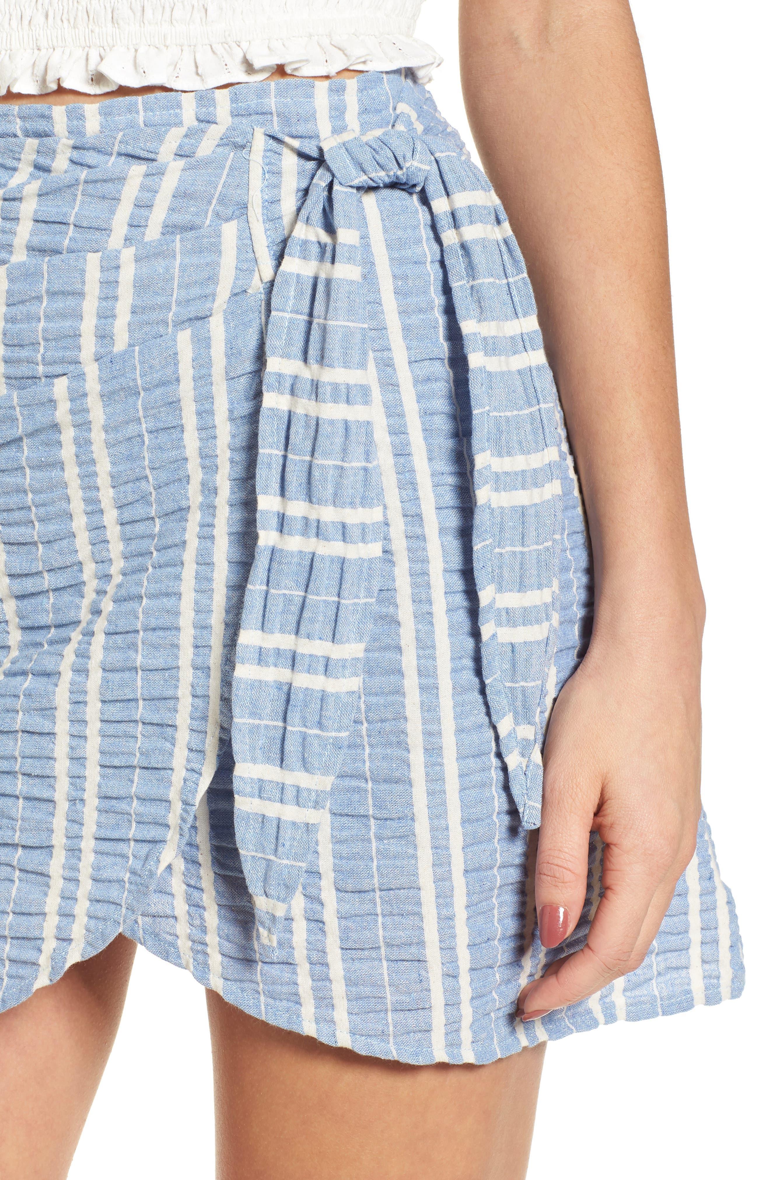 Waves Wrap Front Skirt,                             Alternate thumbnail 4, color,