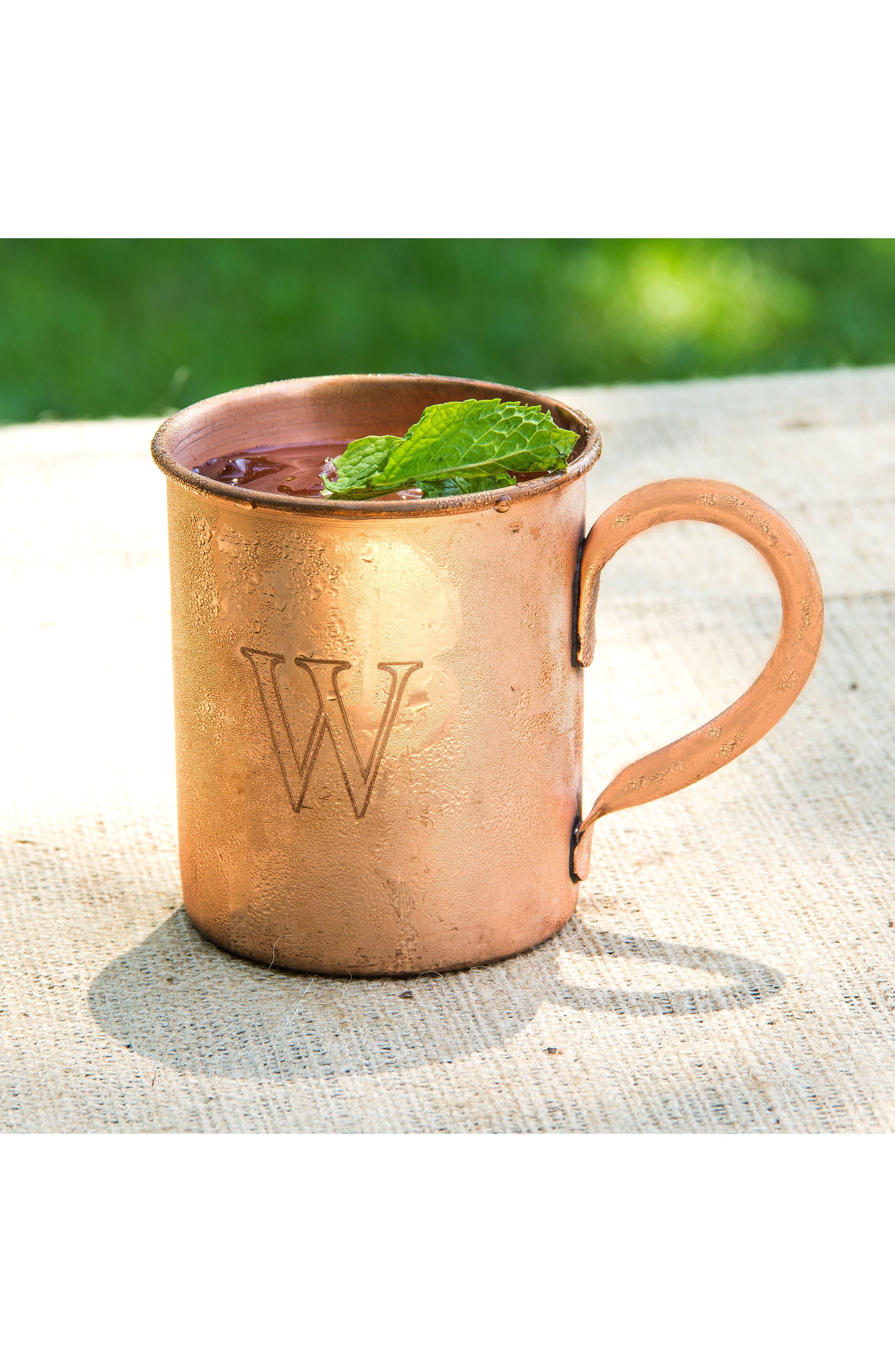 Monogram Moscow Mule Copper Mug,                             Alternate thumbnail 5, color,                             243