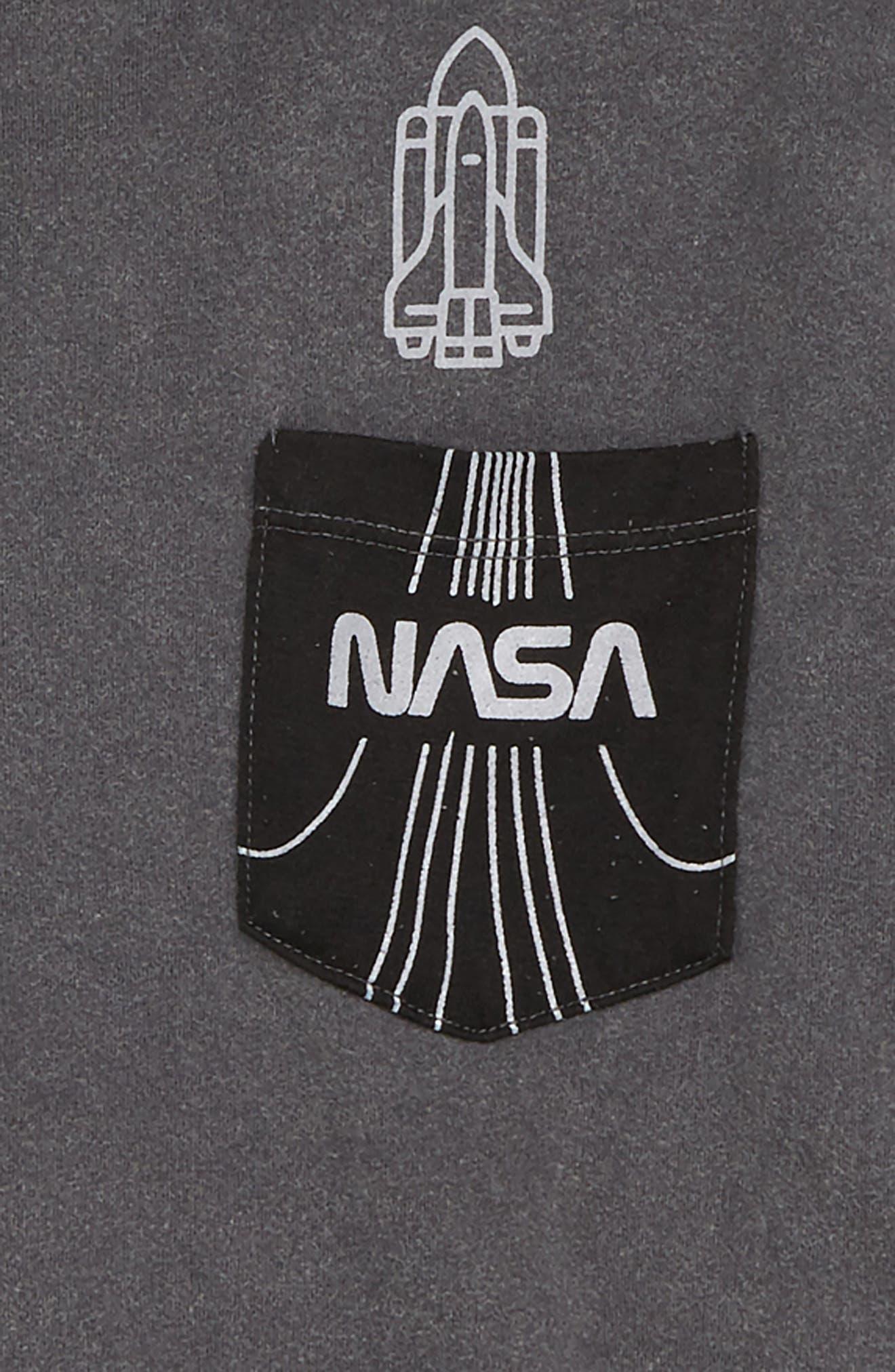 NASA Pocket T-Shirt,                             Alternate thumbnail 2, color,                             CHARCOAL MINERAL/ BLACK