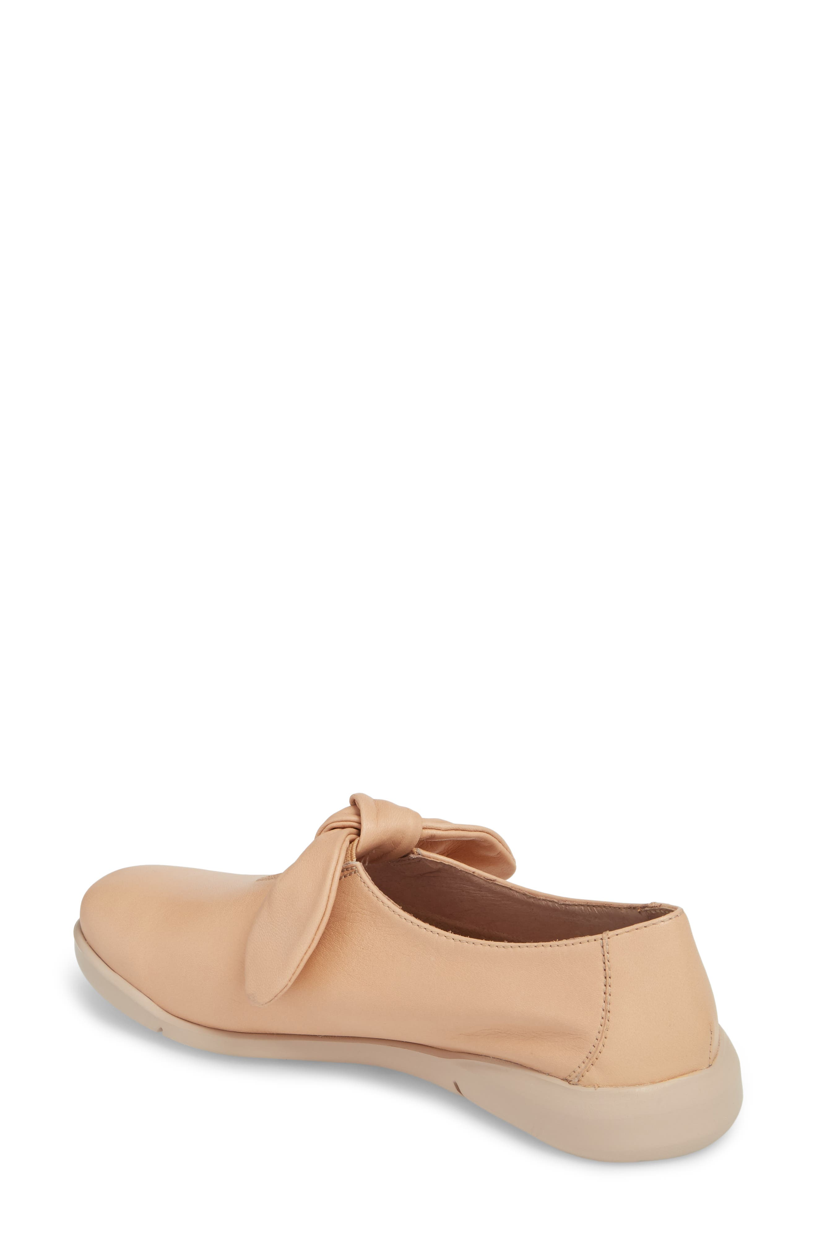 Knotted Mary Jane Flat,                             Alternate thumbnail 2, color,                             PALO BEIGE LEATHER