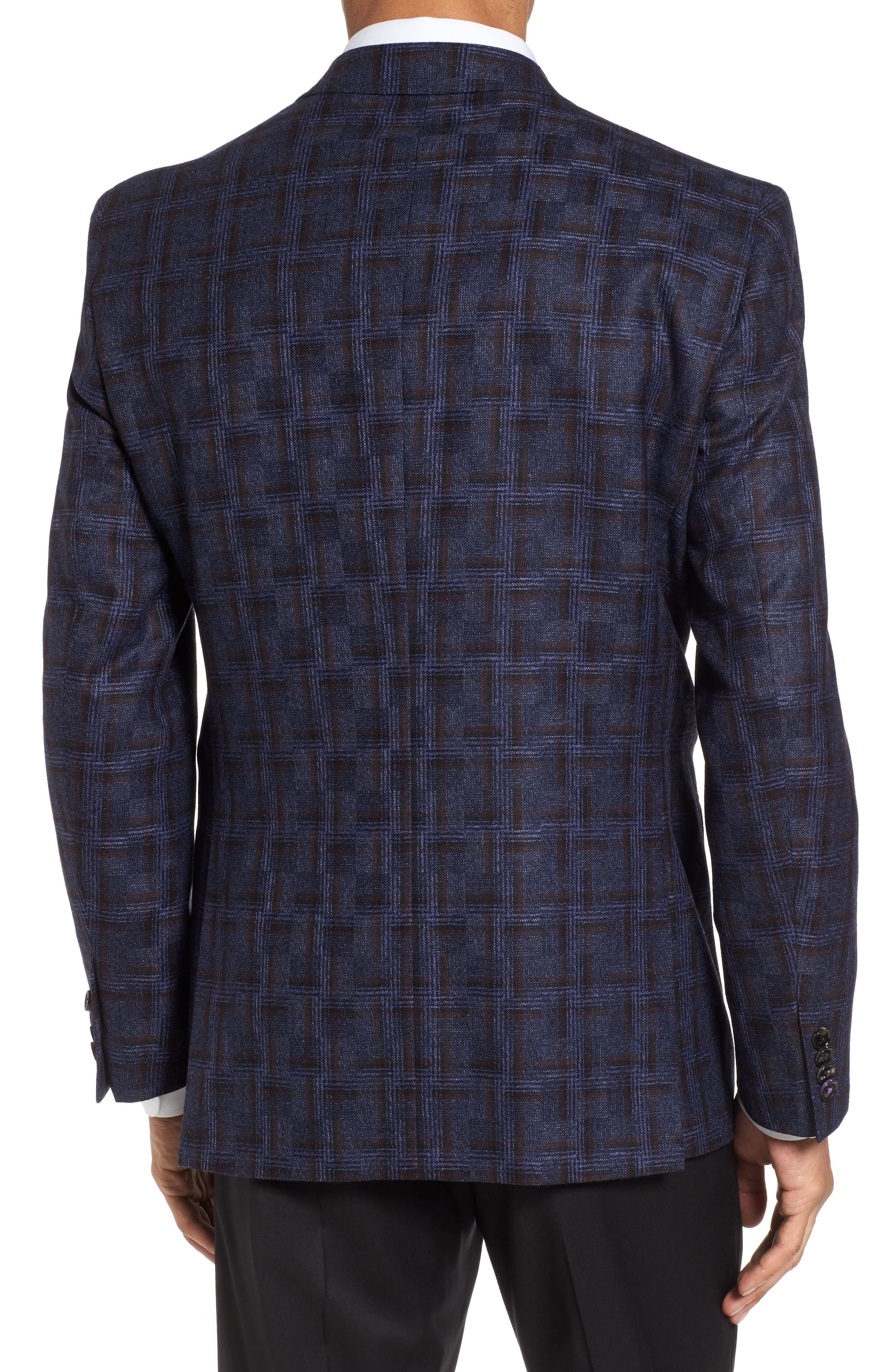 Jay Trim Fit Plaid Wool Sport Coat,                             Alternate thumbnail 2, color,