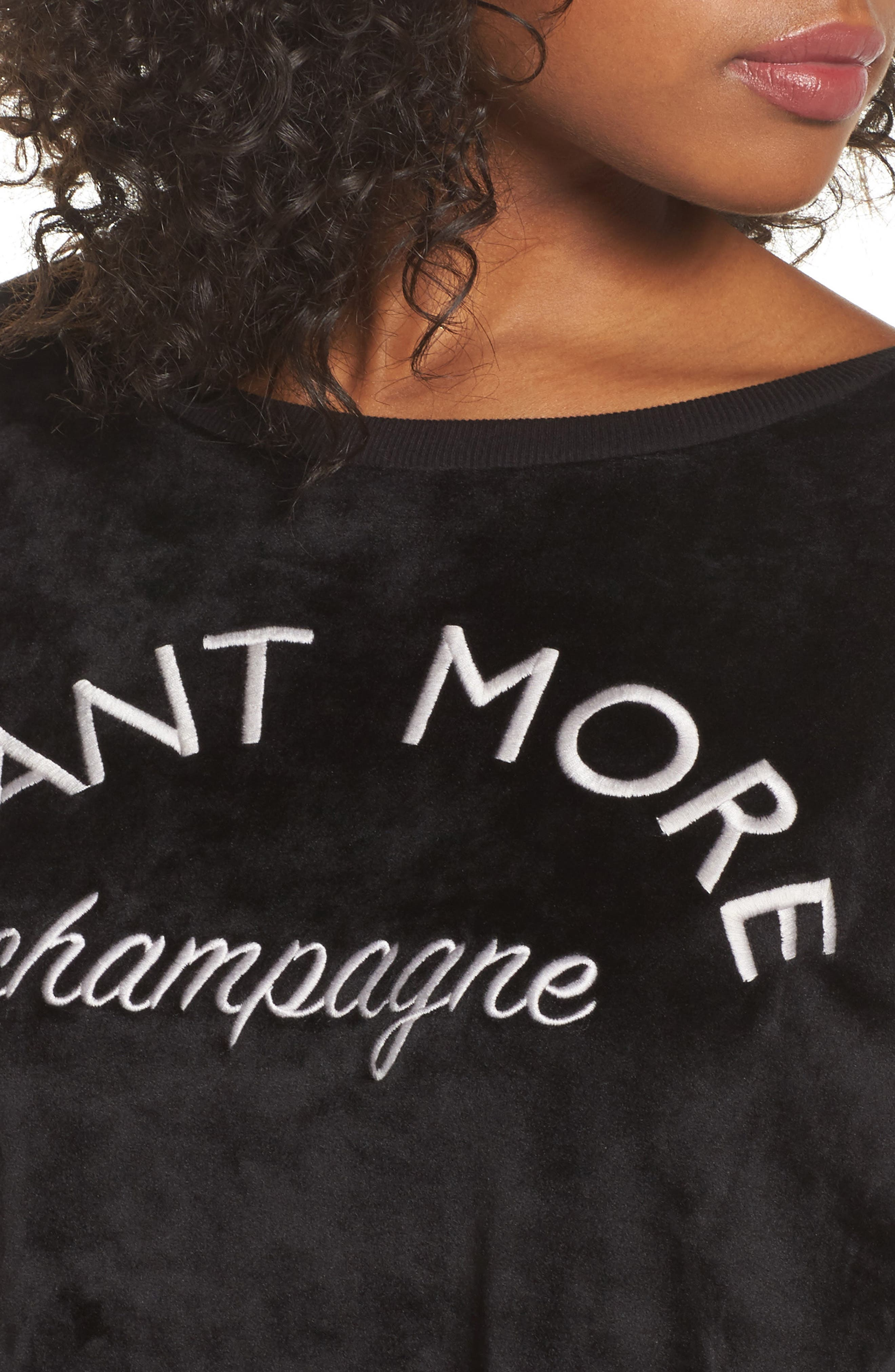 Luxury Plush Sweatshirt,                             Alternate thumbnail 4, color,                             001
