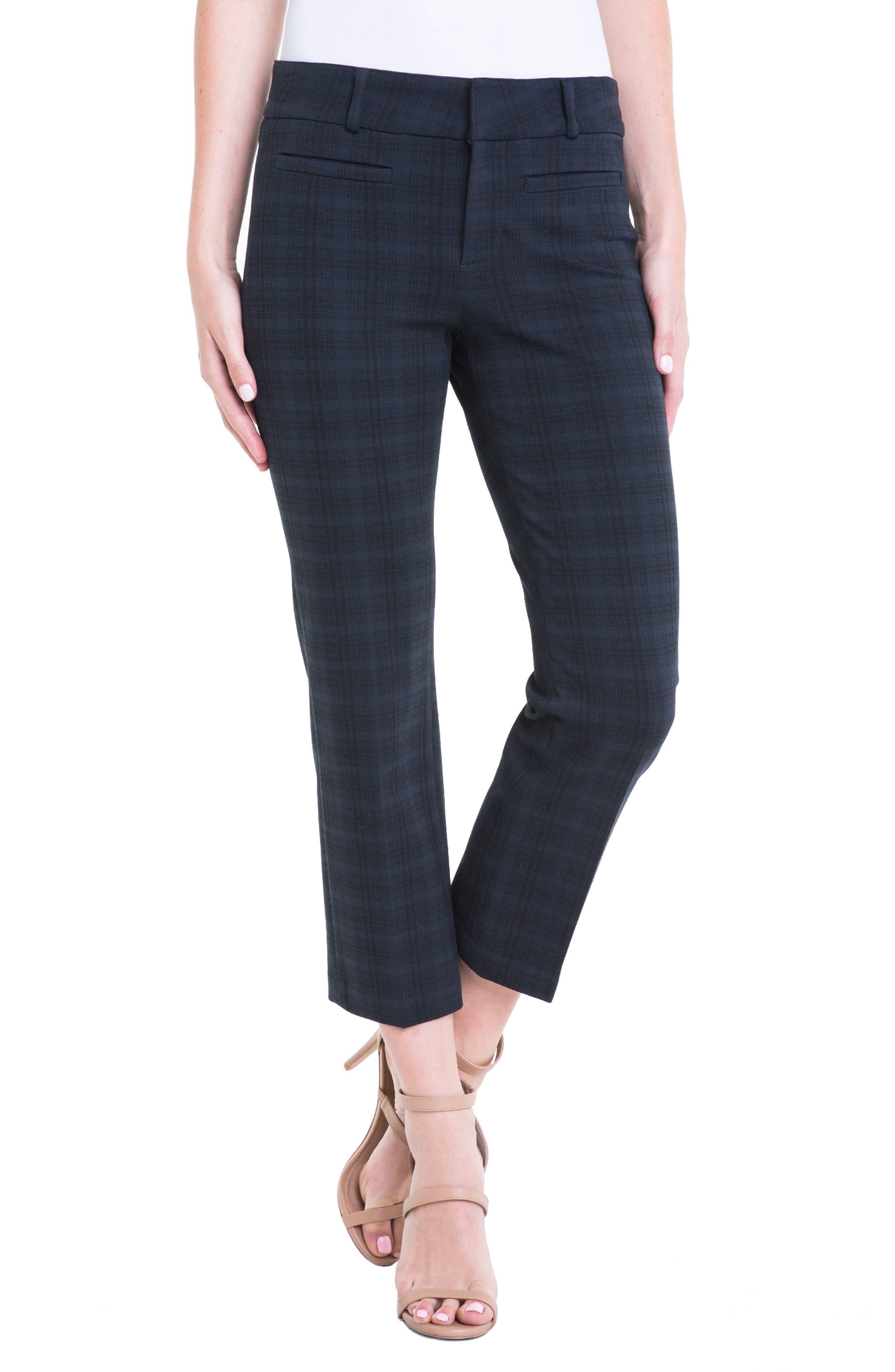 Vera Plaid Crop Trousers,                             Alternate thumbnail 4, color,