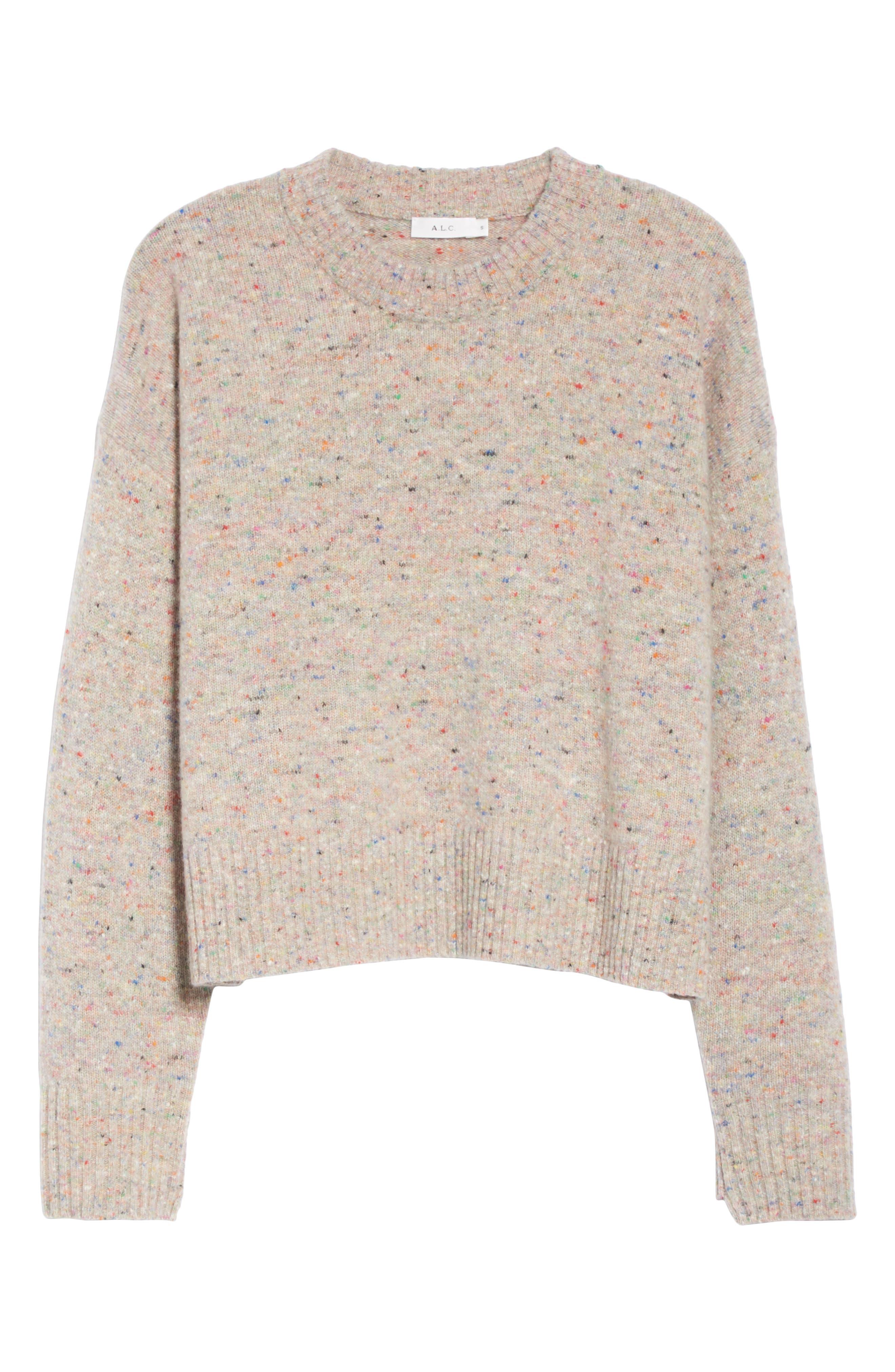 Emmeline Lambswool & Cashmere Blend Sweater,                             Alternate thumbnail 6, color,                             MULTICOLOR