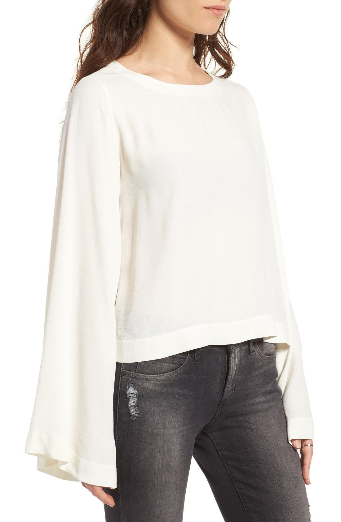 Bell Sleeve Blouse,                             Alternate thumbnail 6, color,