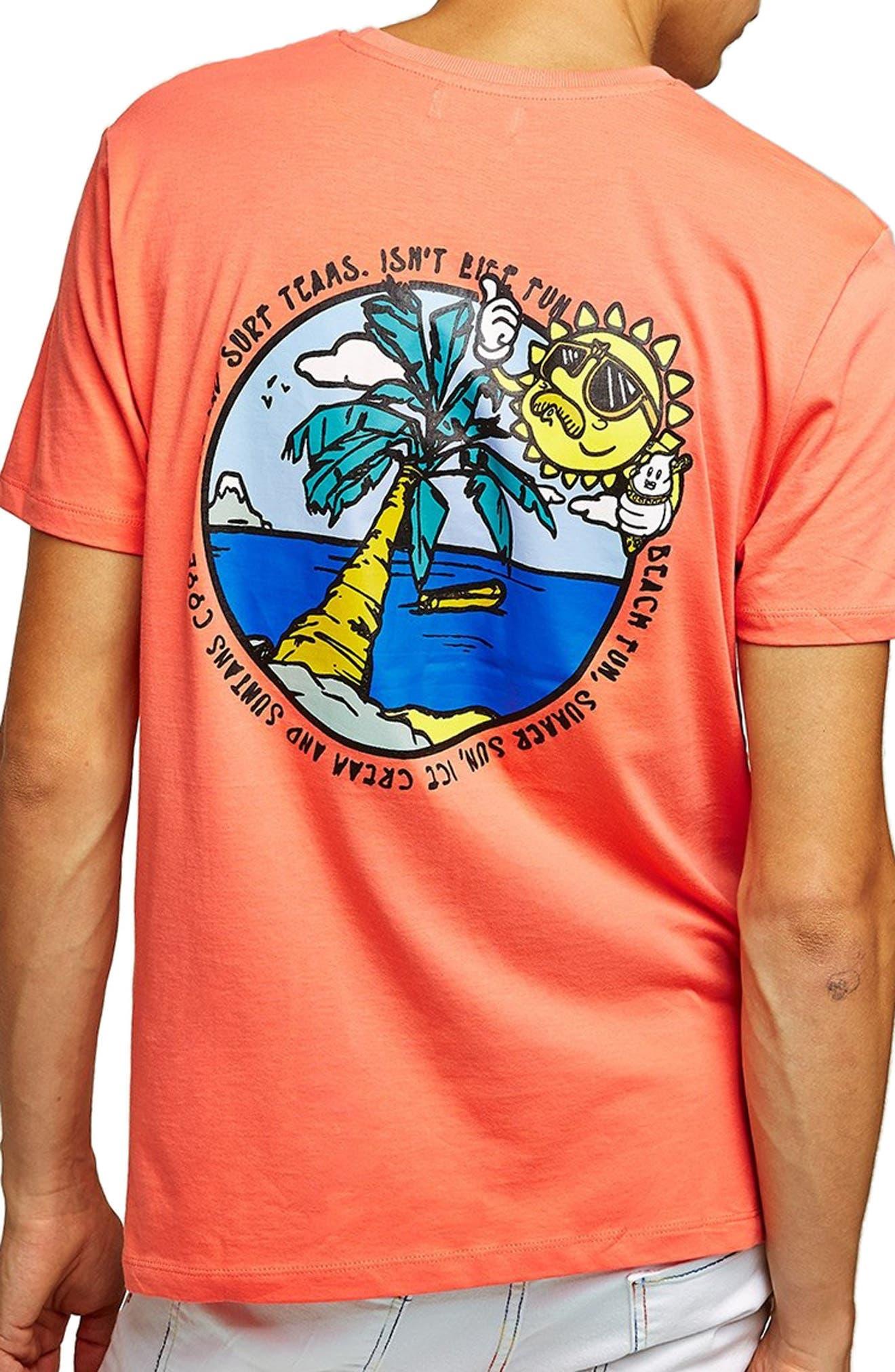 Sun T-Shirt,                             Alternate thumbnail 2, color,                             PINK