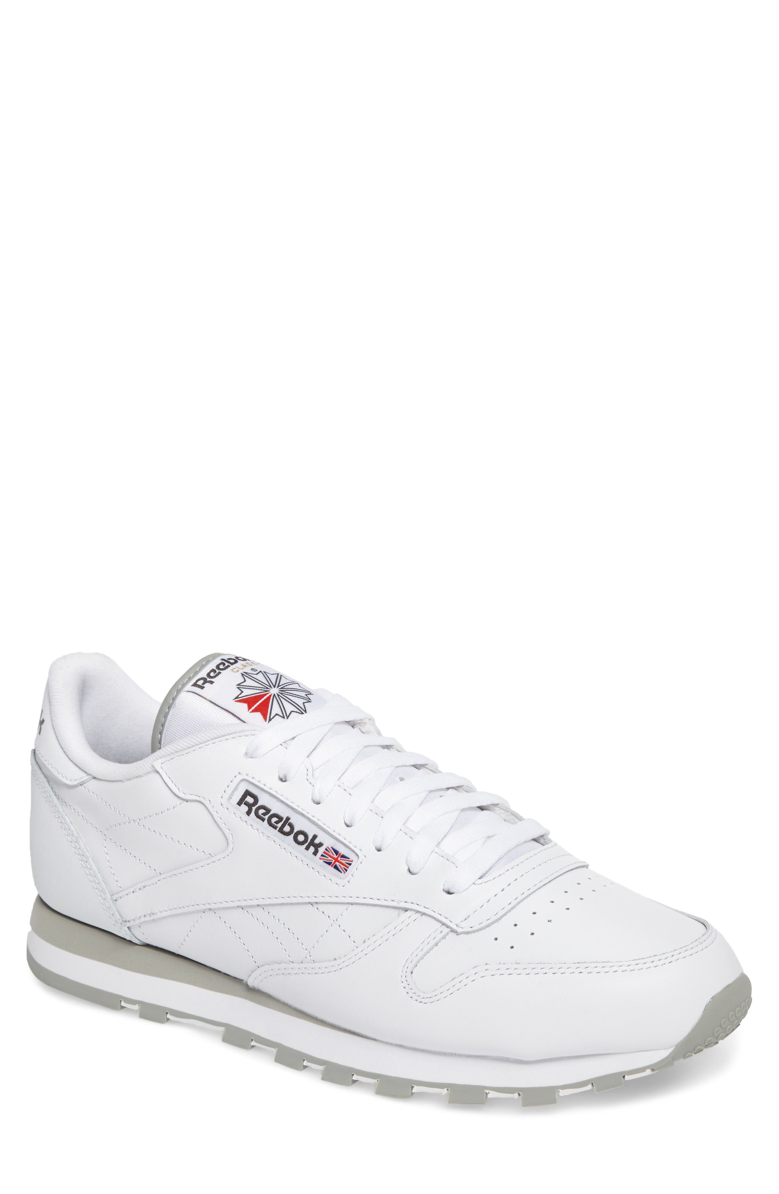 Classic Leather Sneaker,                         Main,                         color, WHITE