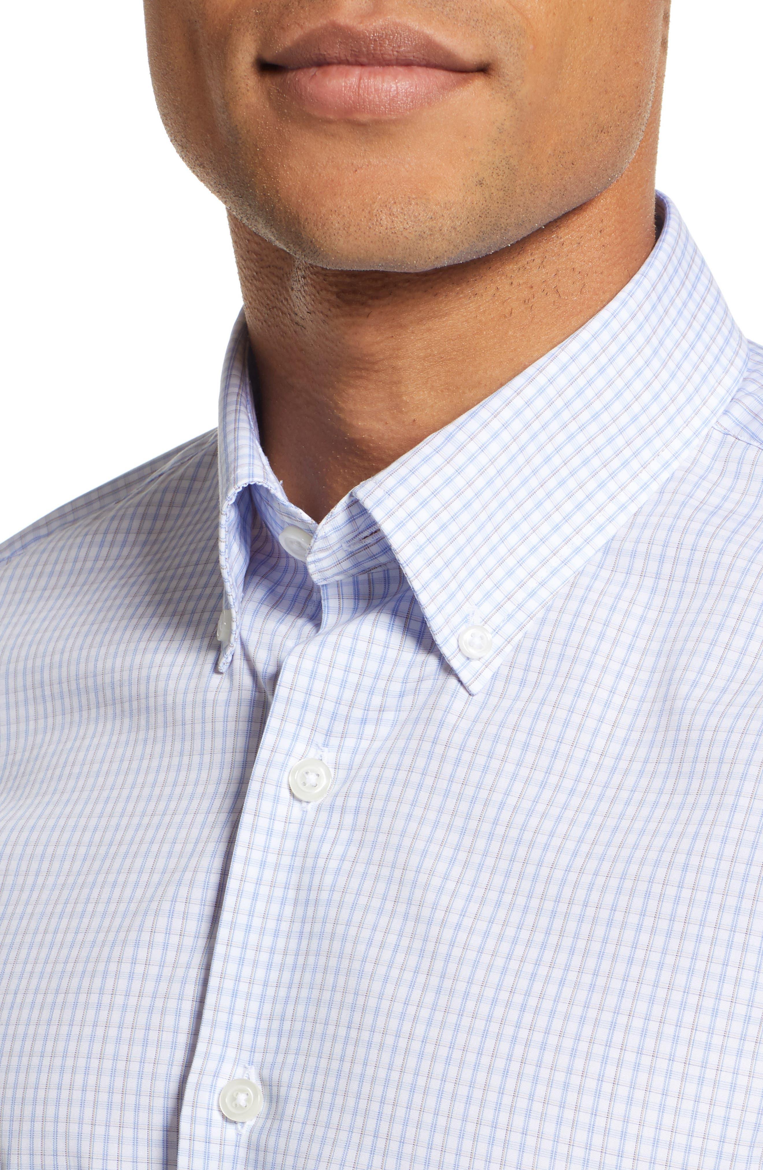 Classic Fit Check Dress Shirt,                             Alternate thumbnail 2, color,                             BROWN