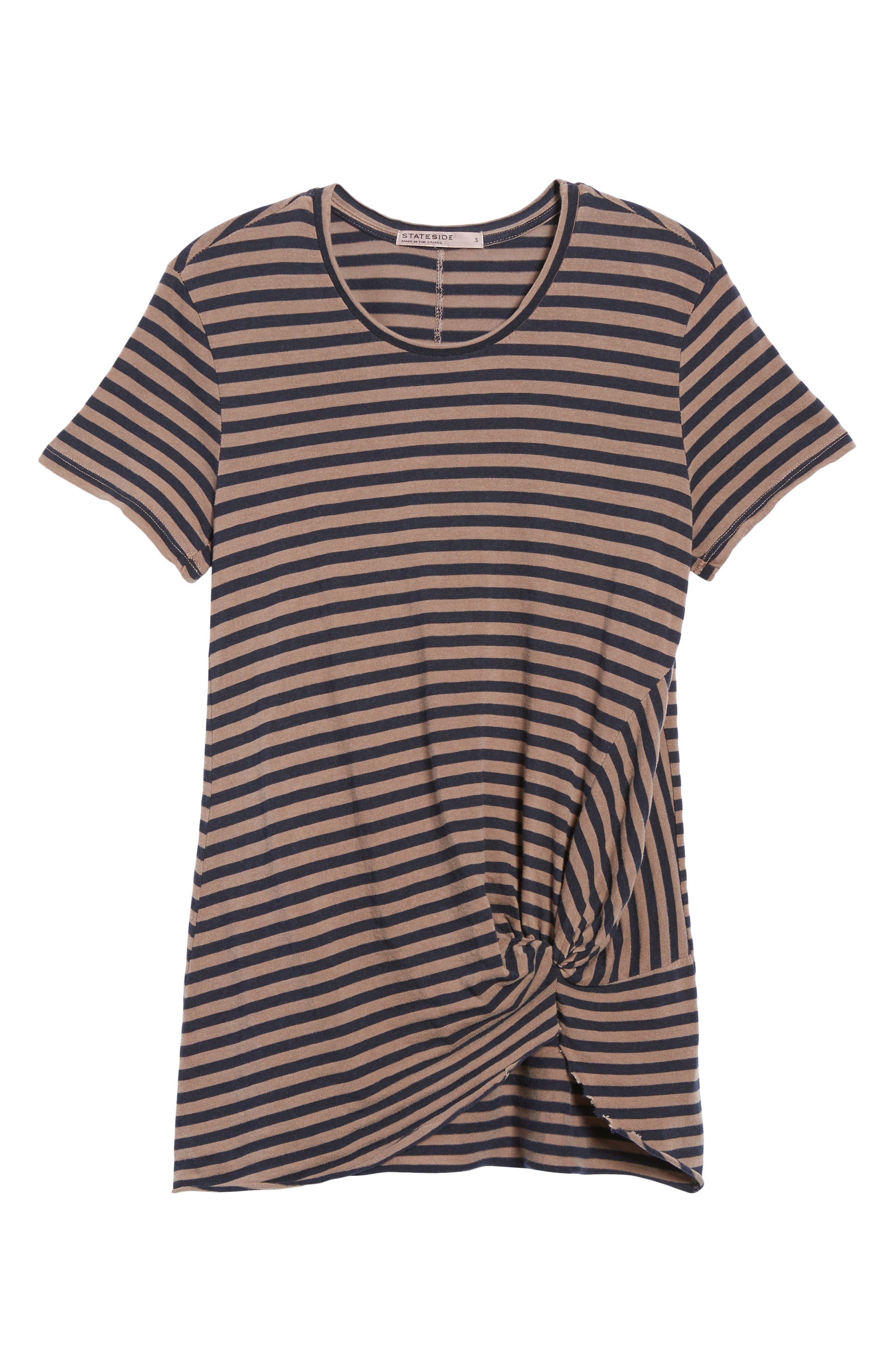 Stripe Twist Front Tee,                             Alternate thumbnail 6, color,                             250