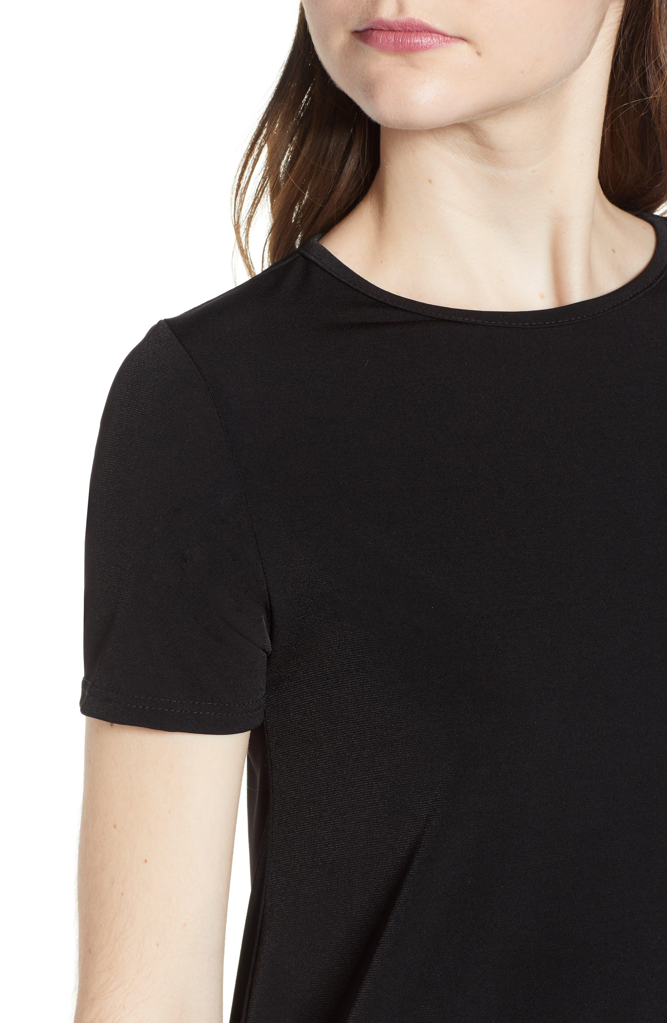 Swing T-Shirt Dress,                             Alternate thumbnail 4, color,                             001