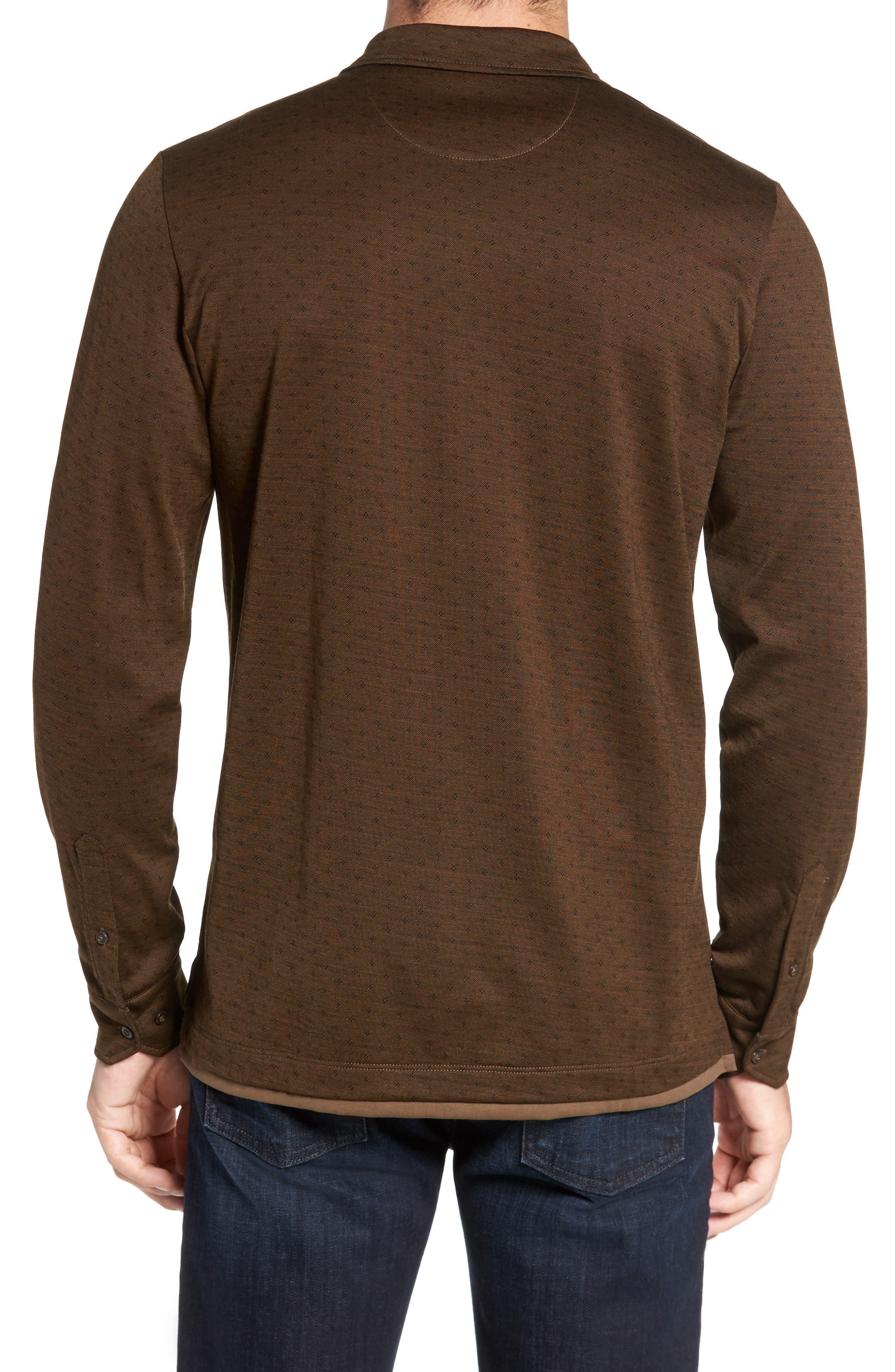 Jacquard Knit Sport Shirt,                             Alternate thumbnail 6, color,