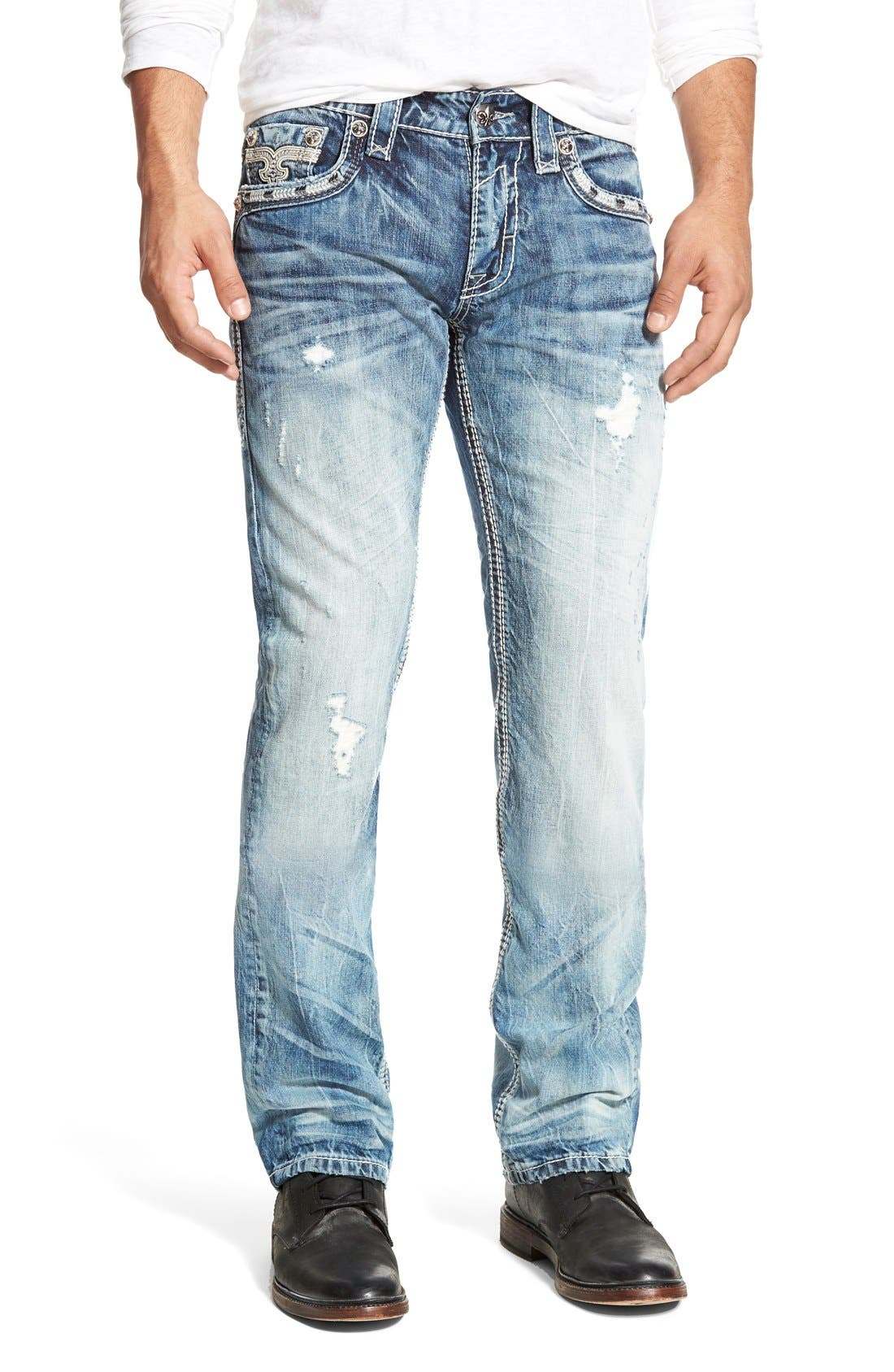 ROCK REVIVAL 'Emmet' Straight Leg Jeans, Main, color, 431