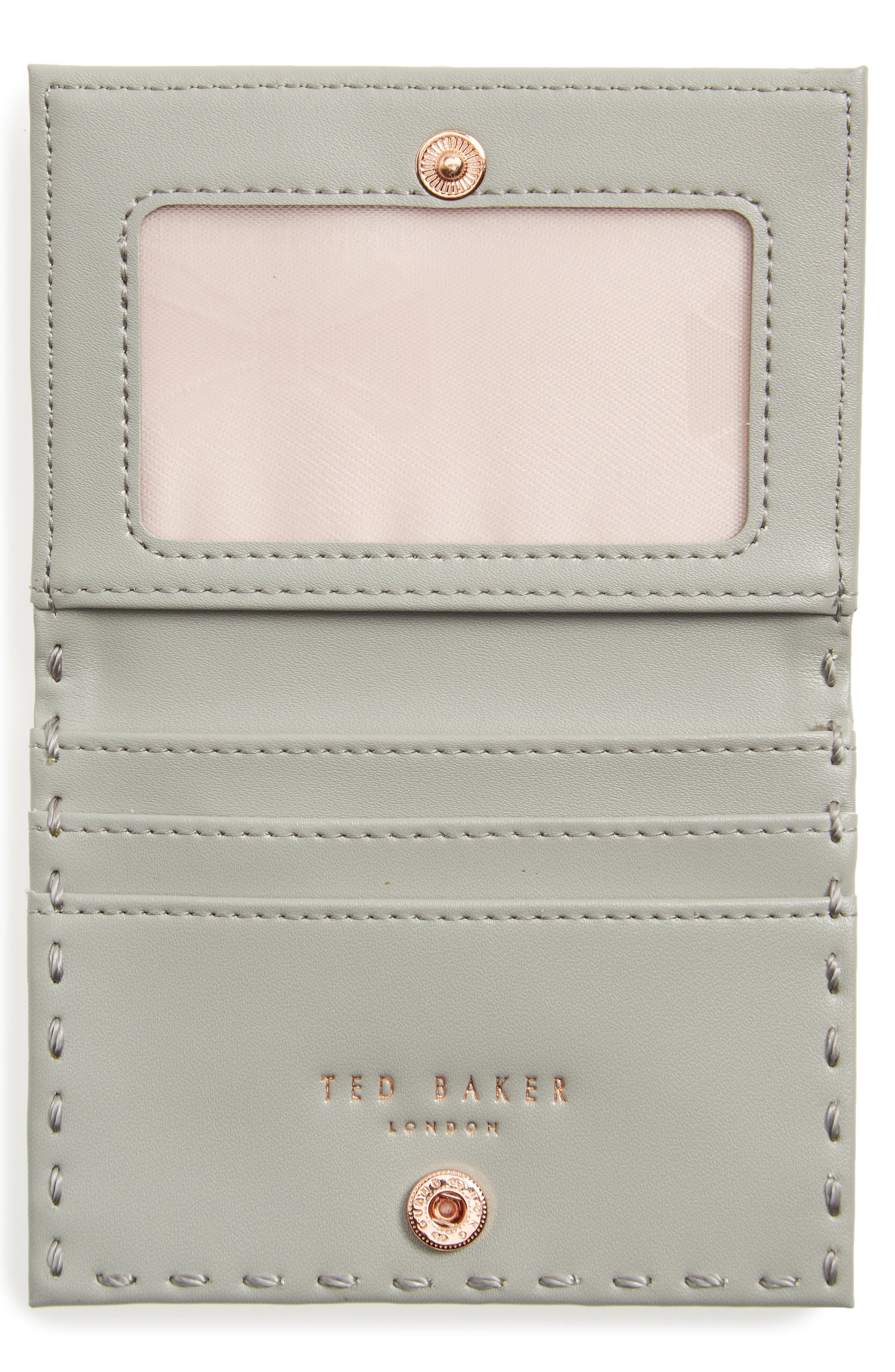 Hermina Leather Card Case,                             Alternate thumbnail 2, color,