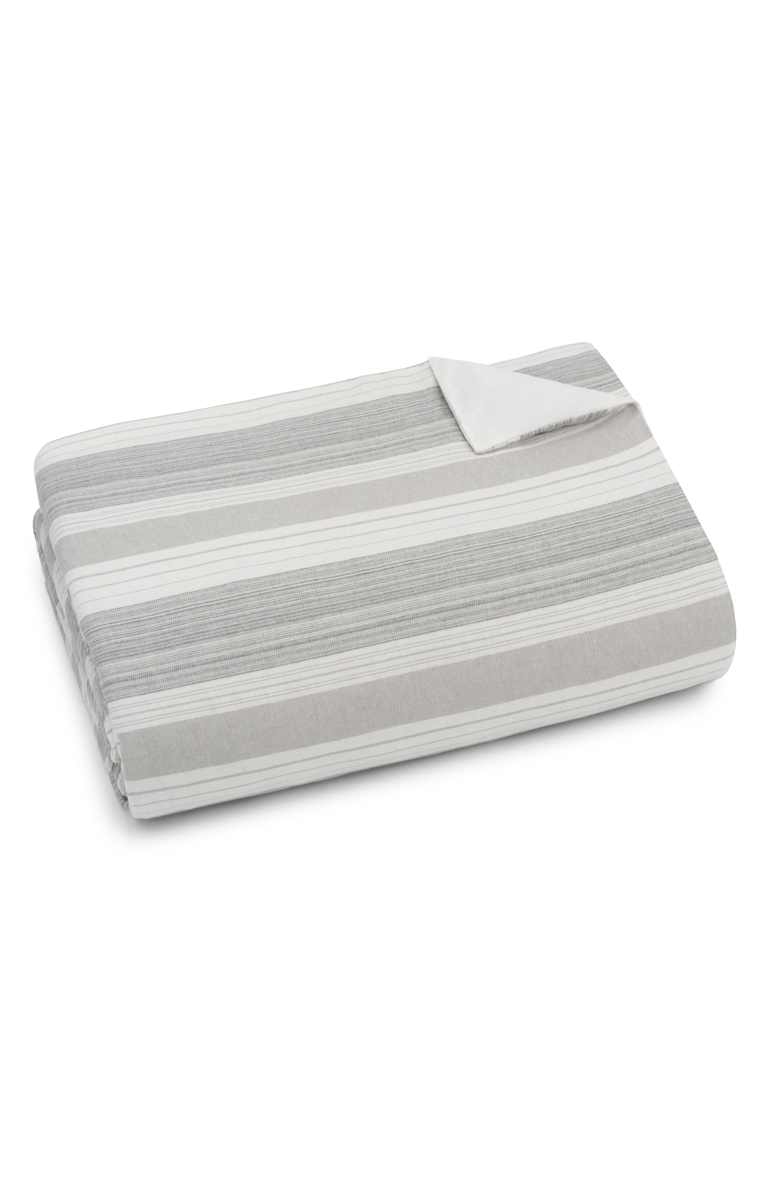 Tatum Stripe Duvet Cover,                         Main,                         color, GREY MULTI
