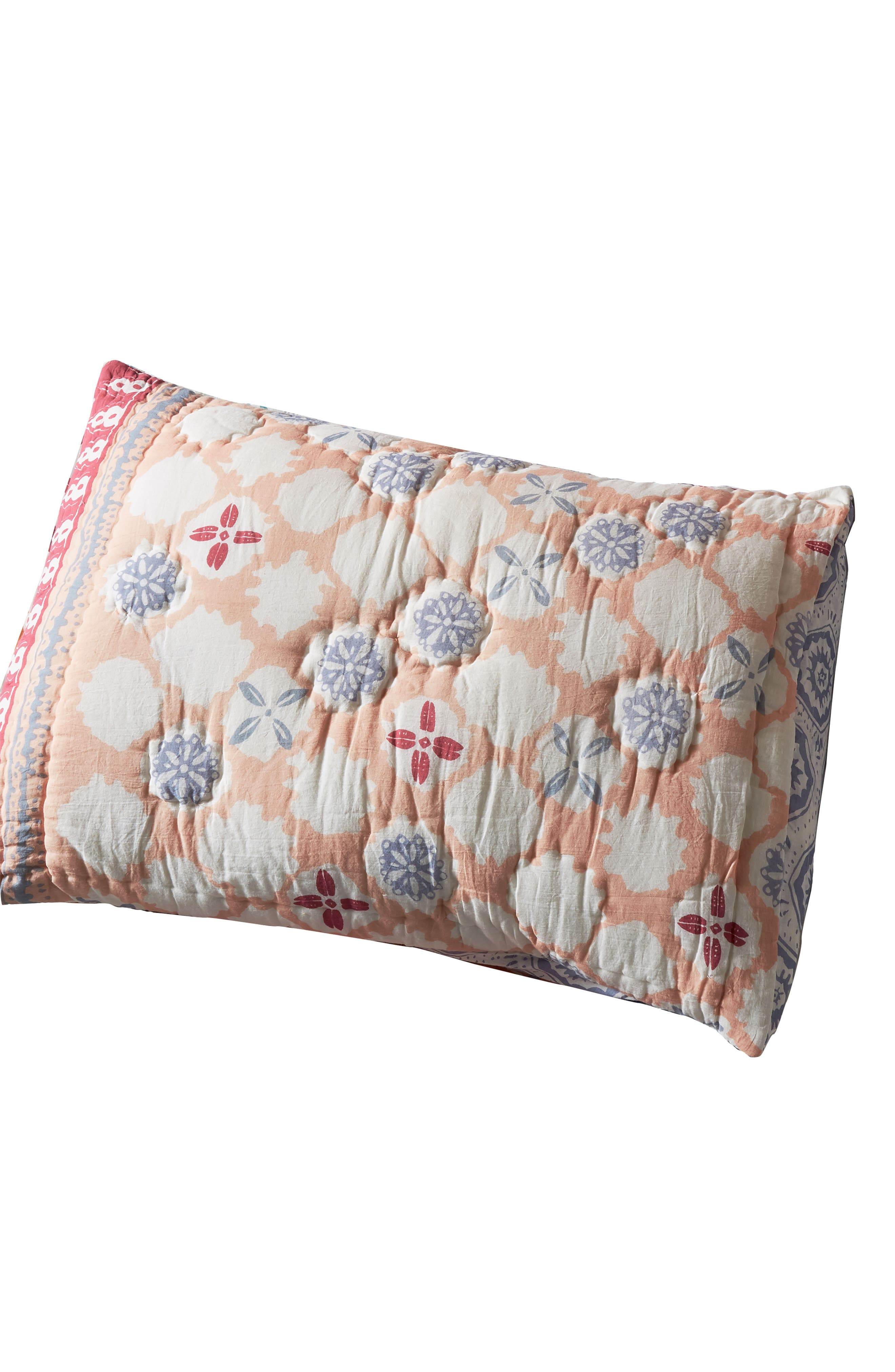 anthropologie laterza pillow shams, size king - blue
